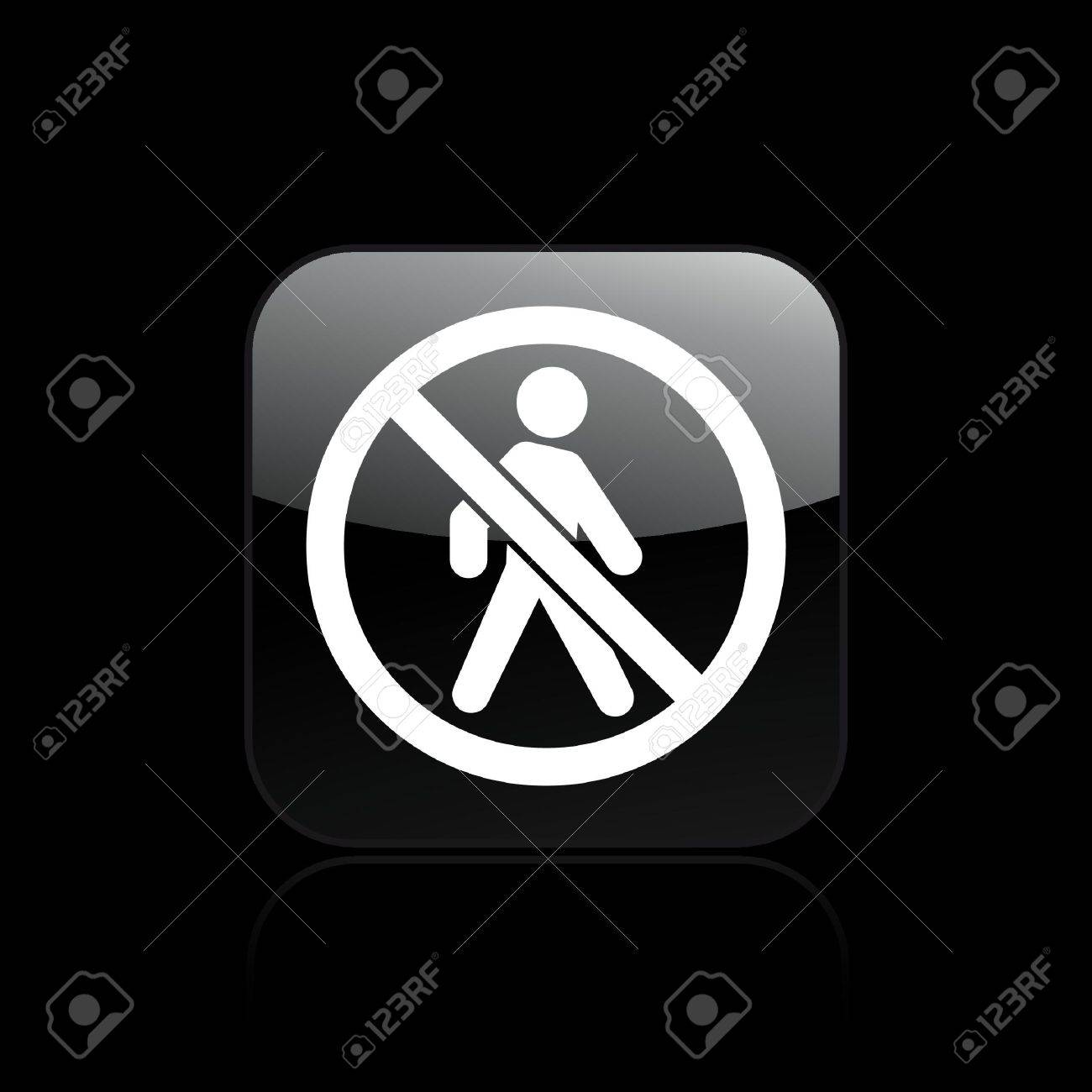 Vector illustration of single isolated access forbidden icon Stock Vector - 12128811
