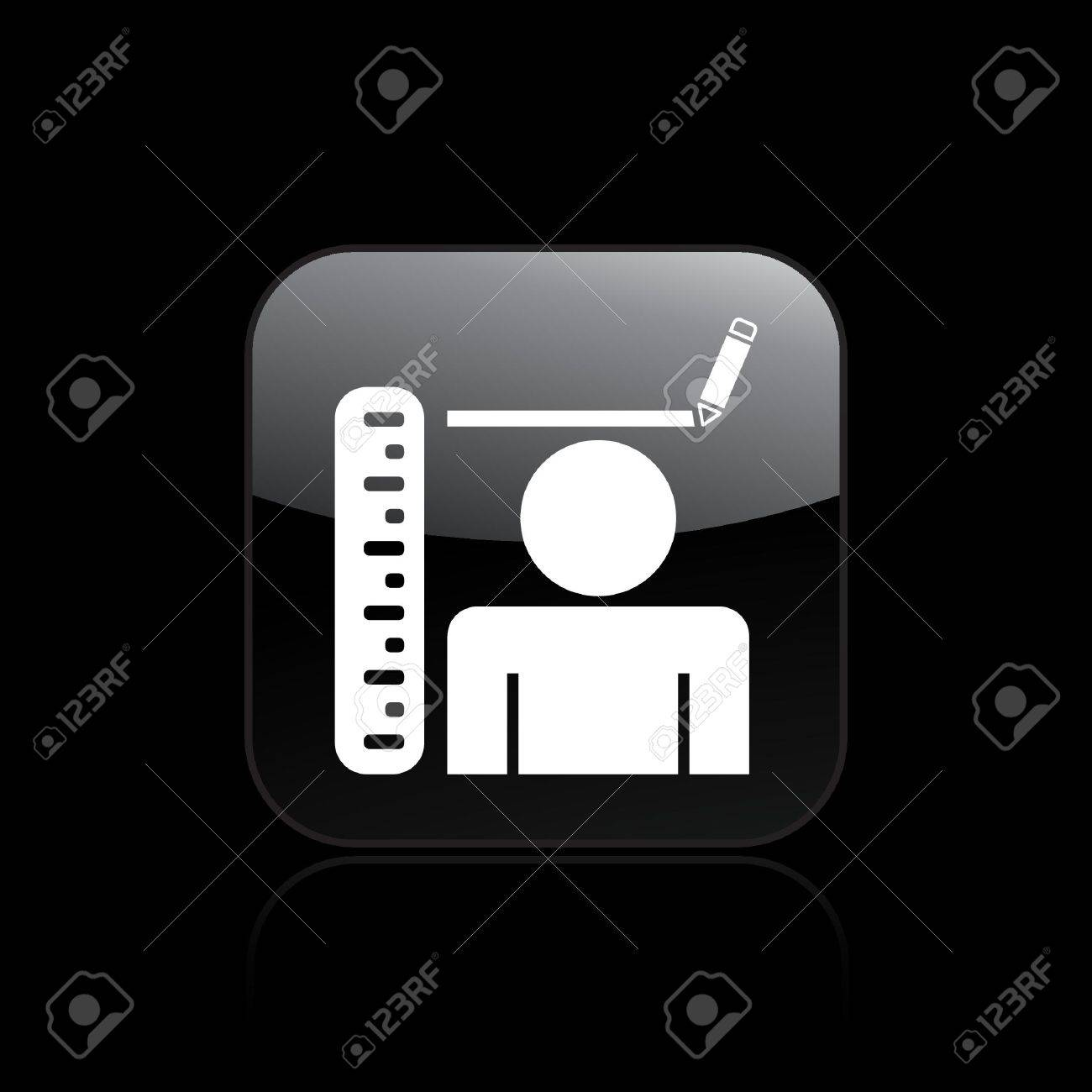 Vector illustration of single isolated stature icon Stock Vector - 12127284