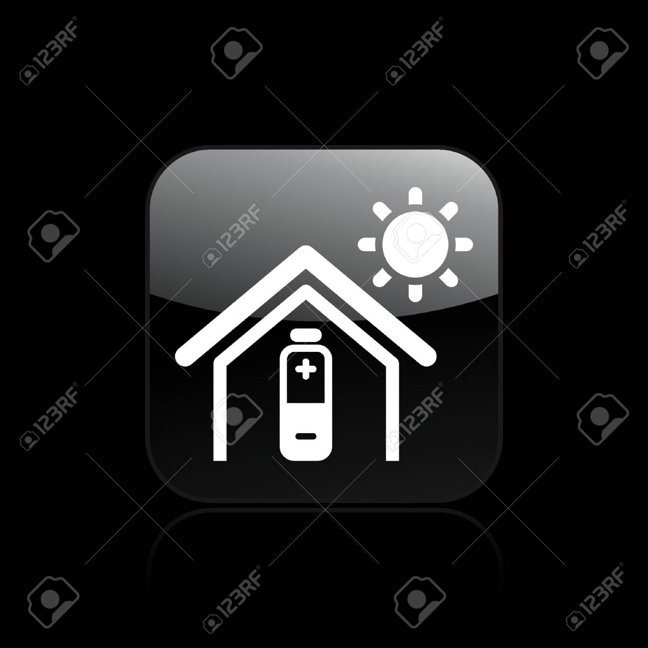 Vector illustration of single isolated home energy icon Stock Vector - 12128956