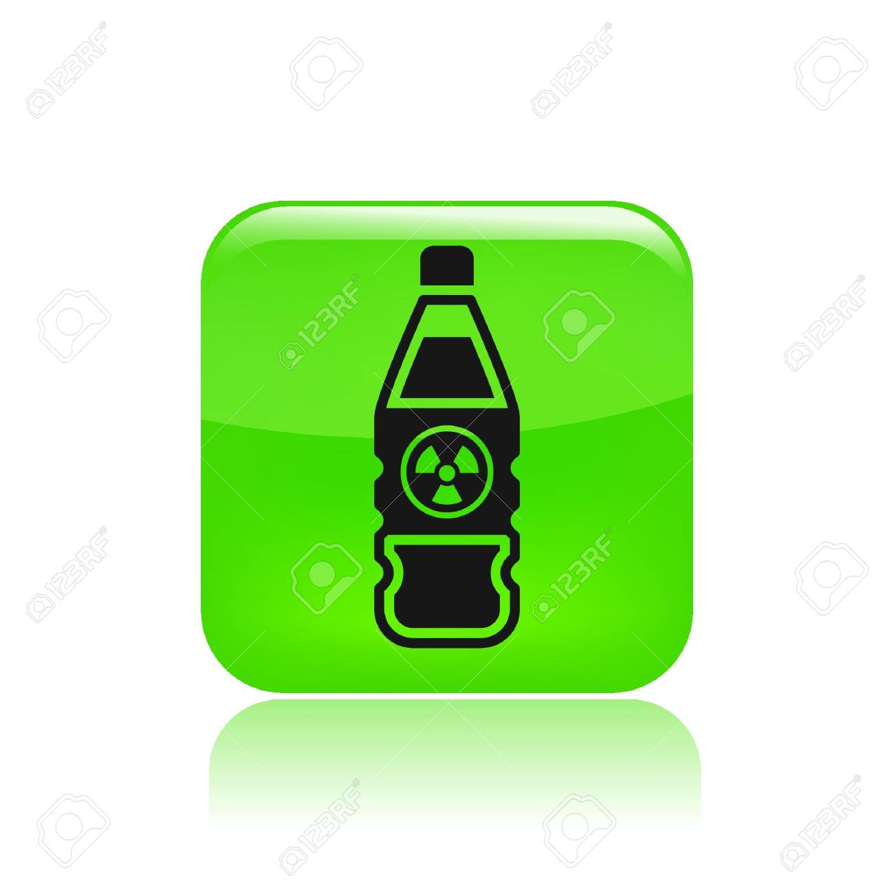 Vector illustration of single isolated bottle icon Stock Vector - 12129414