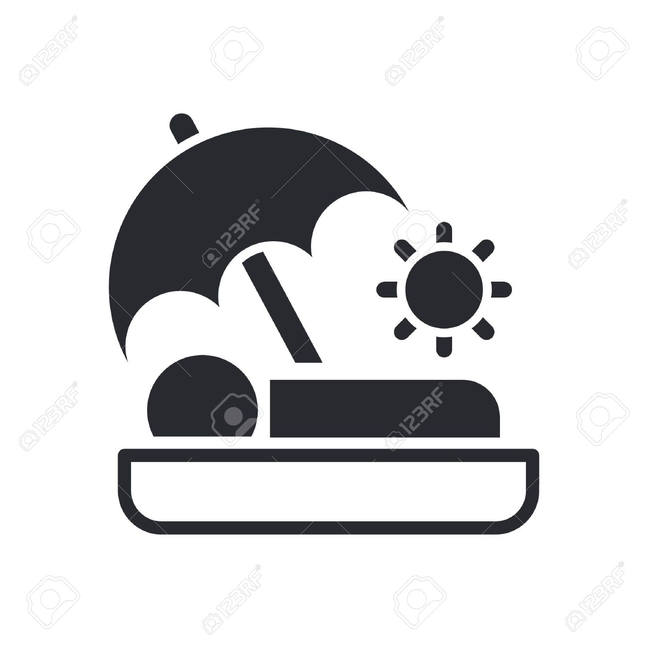 Vector Illustration Of Single Isolated Summer Holiday Icon Royalty ...