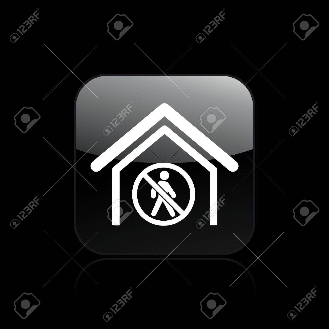 Vector illustration of single isolated forbidden acces icon Stock Vector - 12128869