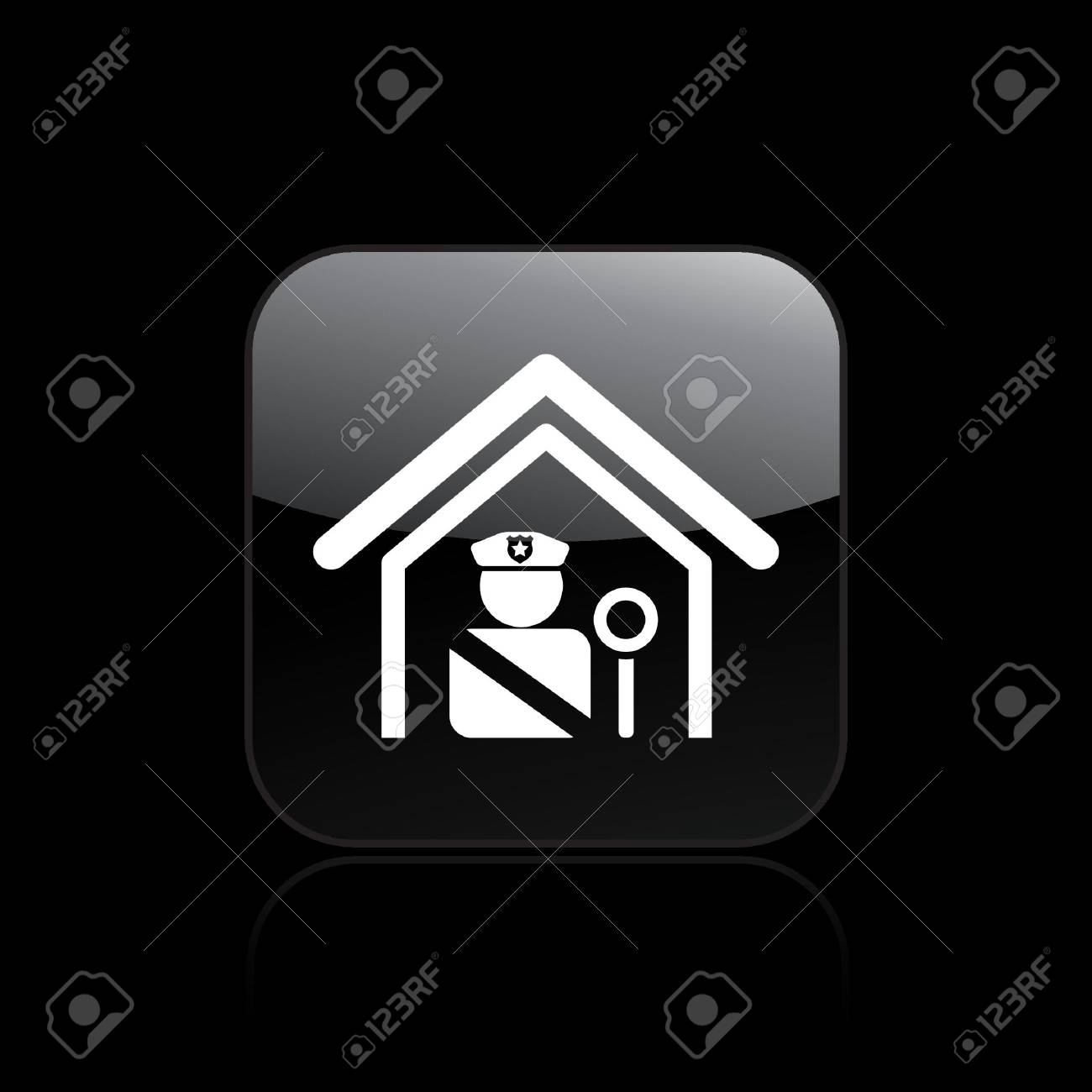 Vector illustration of single isolated police icon Stock Vector - 12127280