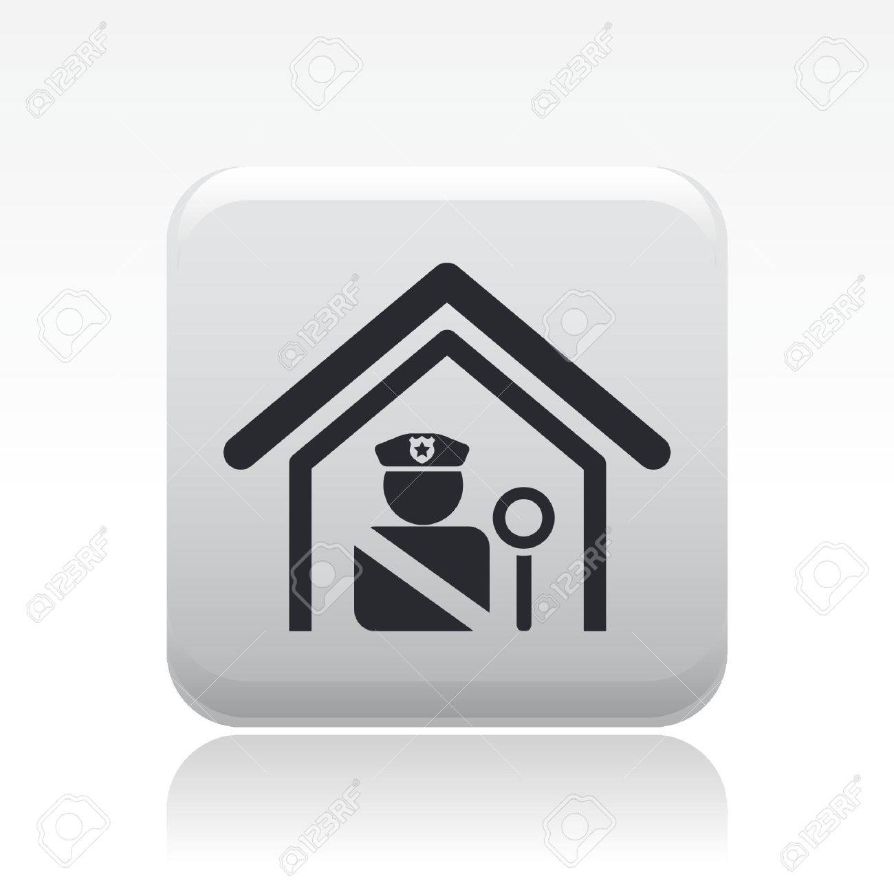 Vector illustration of single isolated police station icon Stock Vector - 12126909