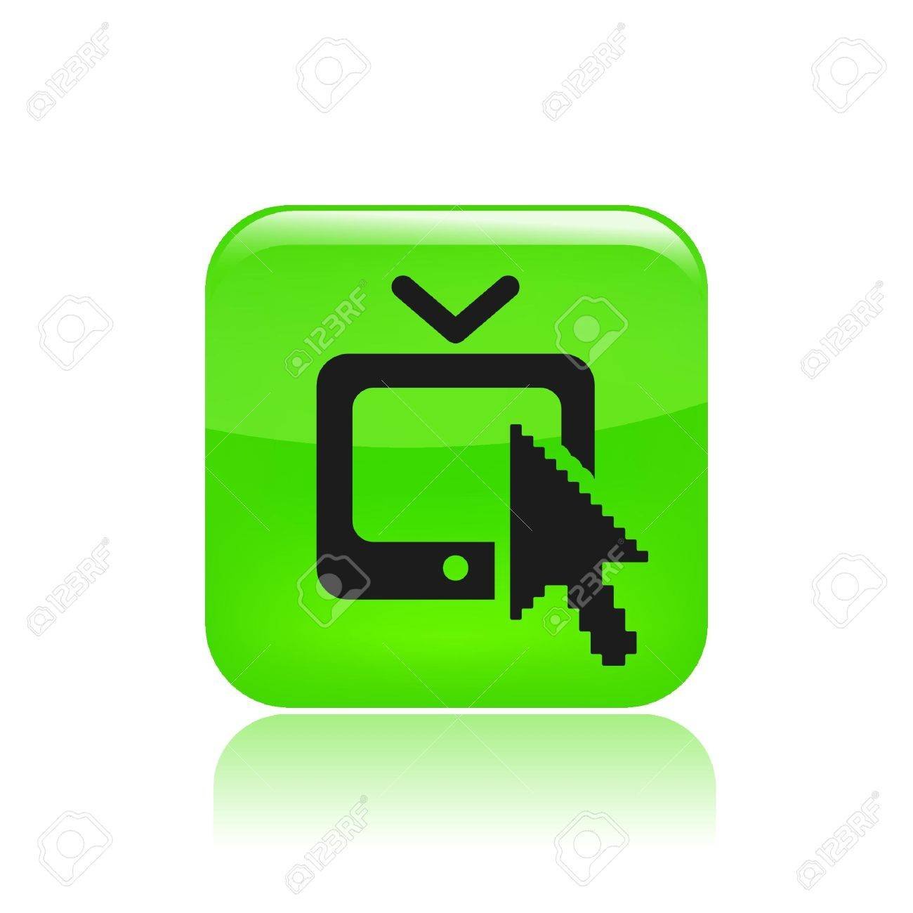 Vector illustration of single isolated web tv icon Stock Vector - 12129401