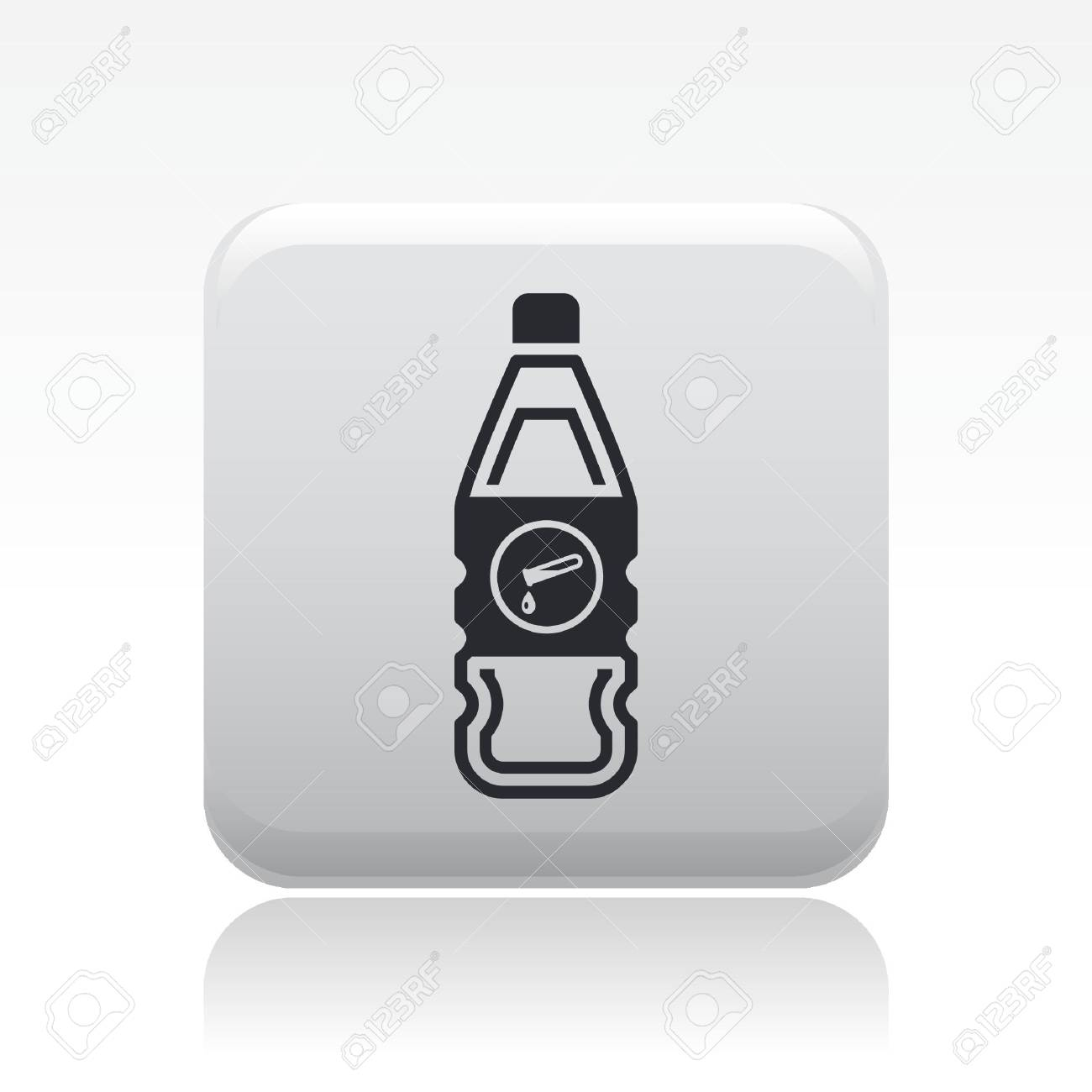 Vector illustration of single isolated dangerous bottle icon Stock Vector - 12127109