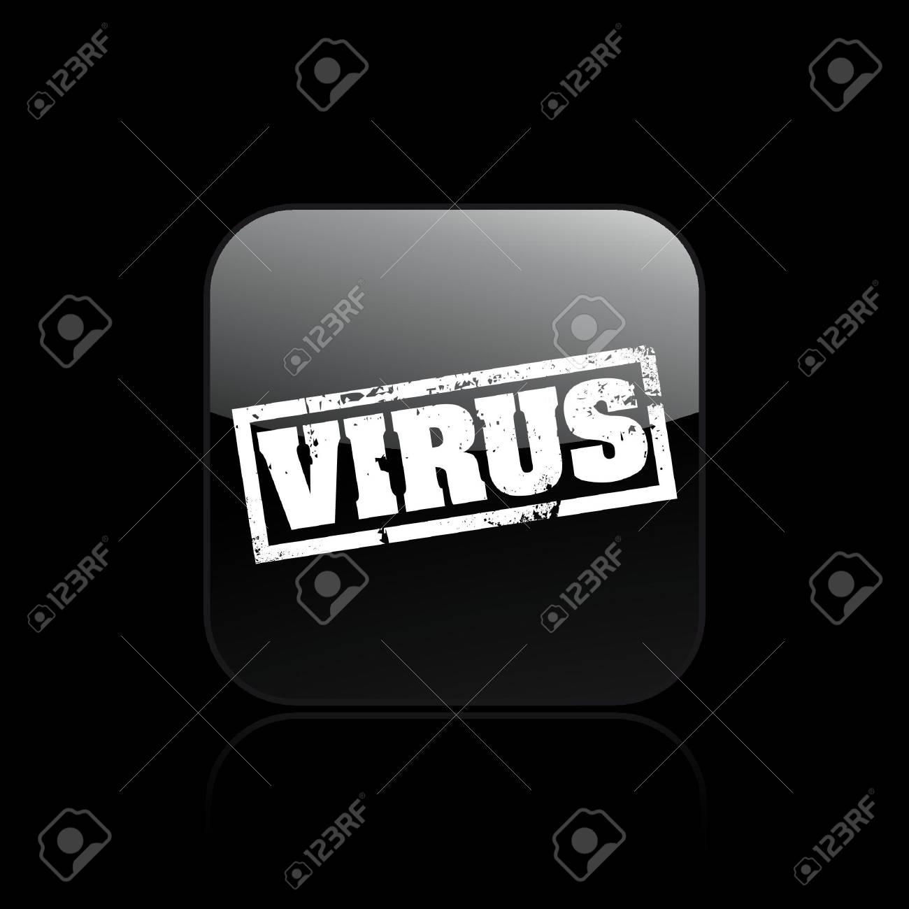 Vector illustration of single isolated virus icon Stock Vector - 12129607