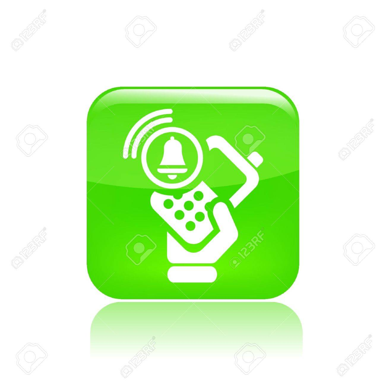 Vector illustration of single isolated phone alarm icon Stock Vector - 12127450