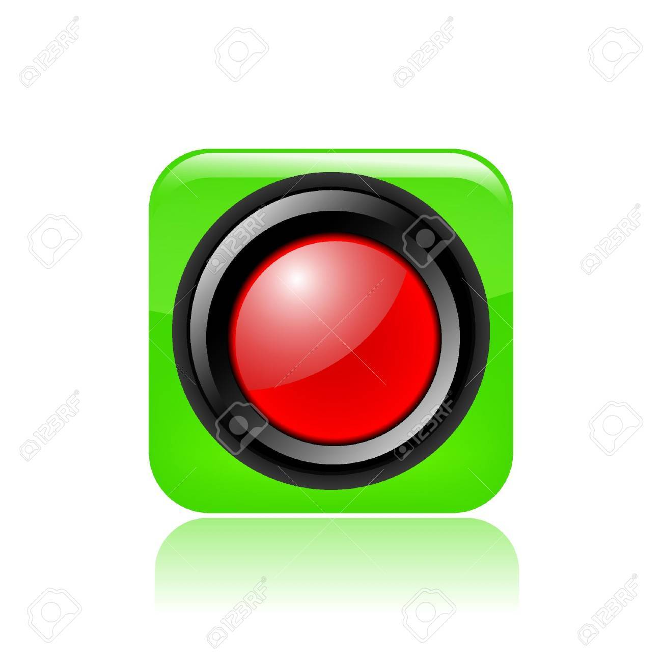 Vector illustration of single isolated red traffic light icon Stock Vector - 12127513
