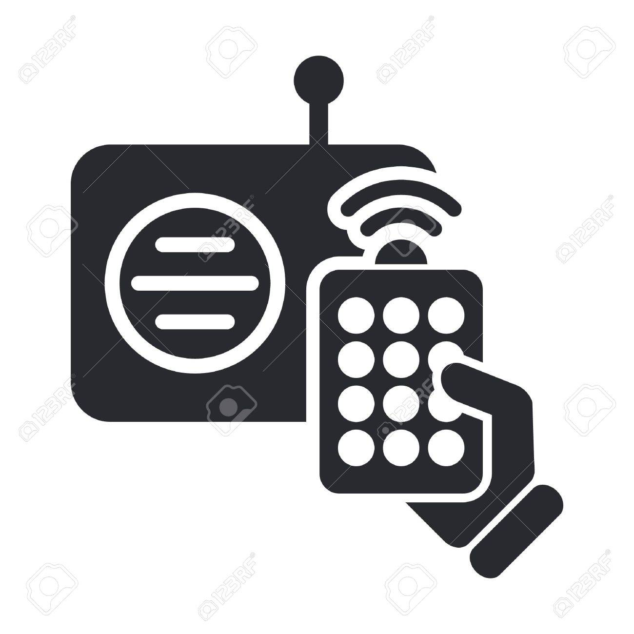 Vector illustration of single isolated radio remote icon Stock Vector - 12127735