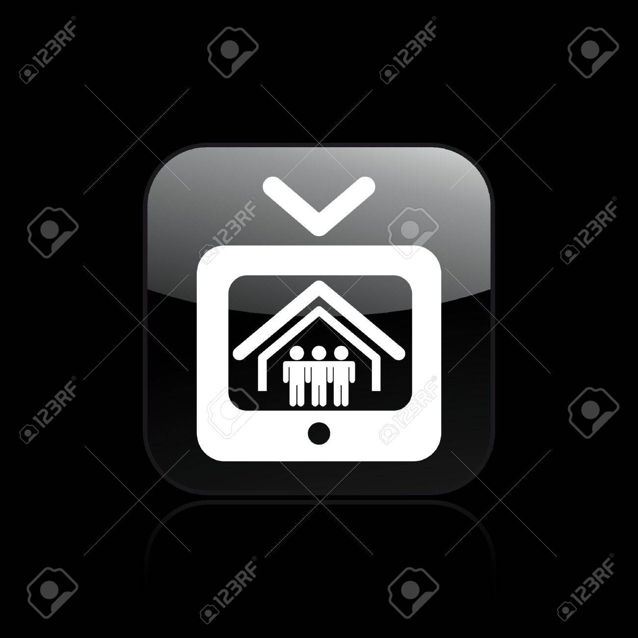 Vector illustration of single isolated reality tv icon Stock Vector - 12128976