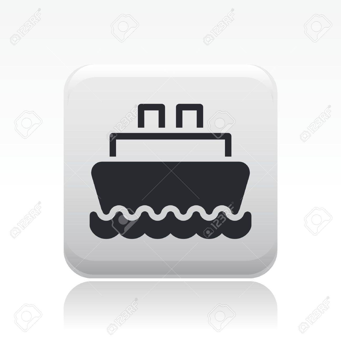 Vector illustration of single isolated boat icon Stock Vector - 12127947