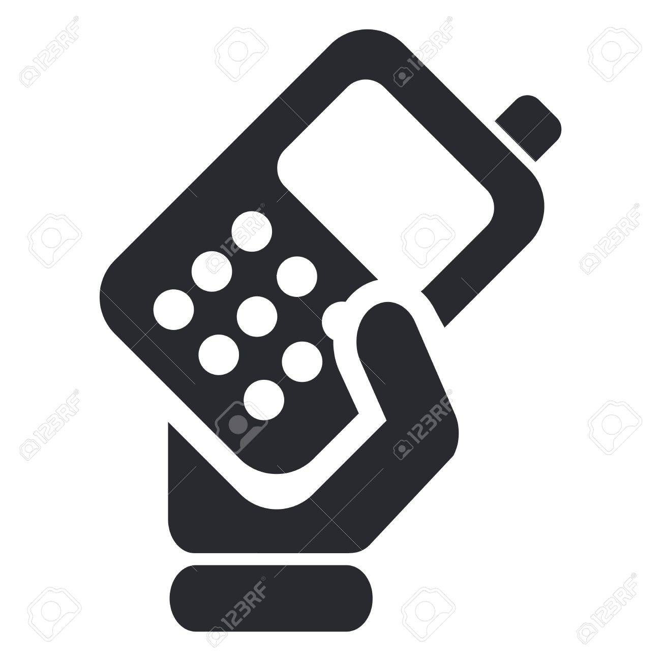 Vector illustration of single isolated phone handing icon Stock Vector - 12124536