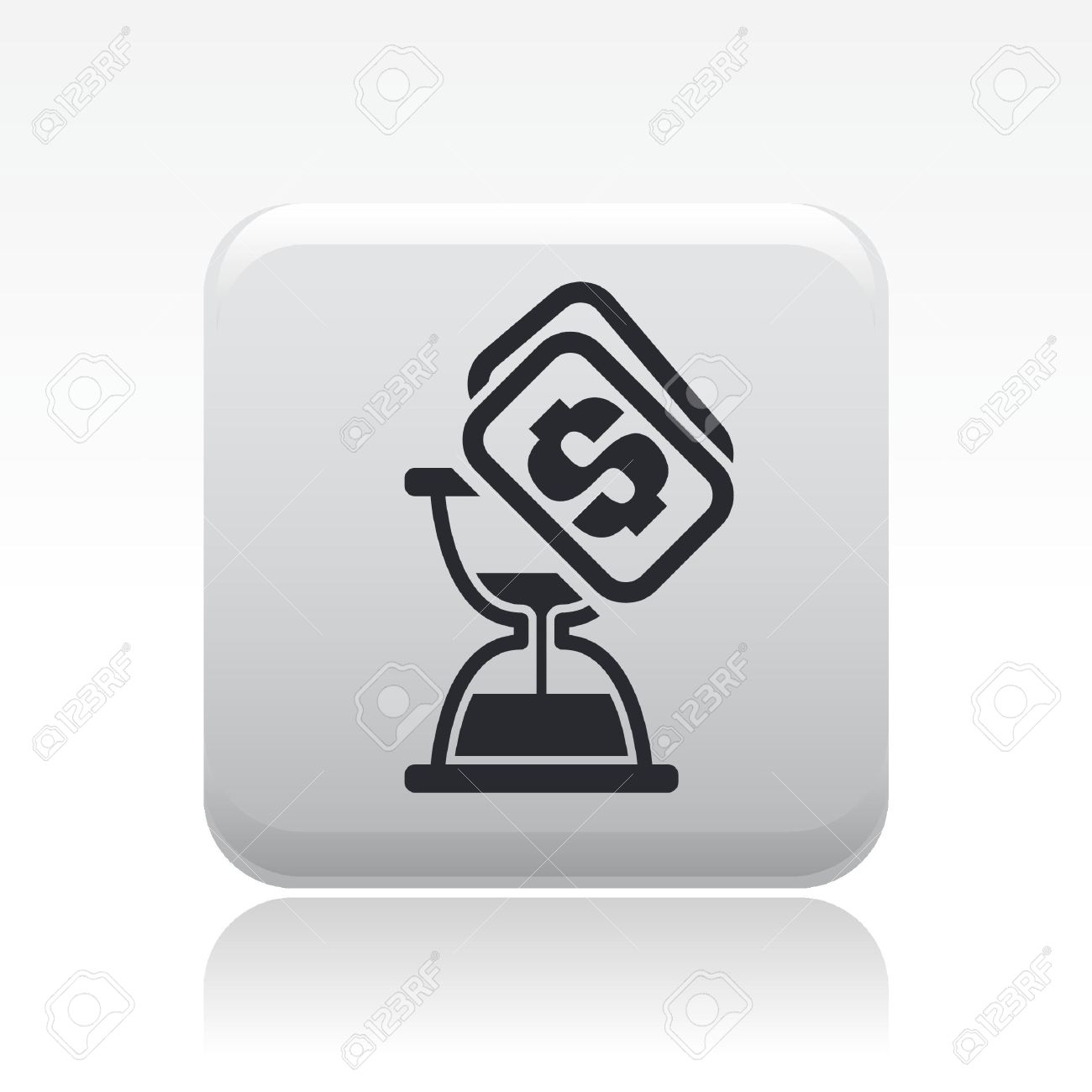 Vector illustration of single isolated time money icon Stock Vector - 12127004