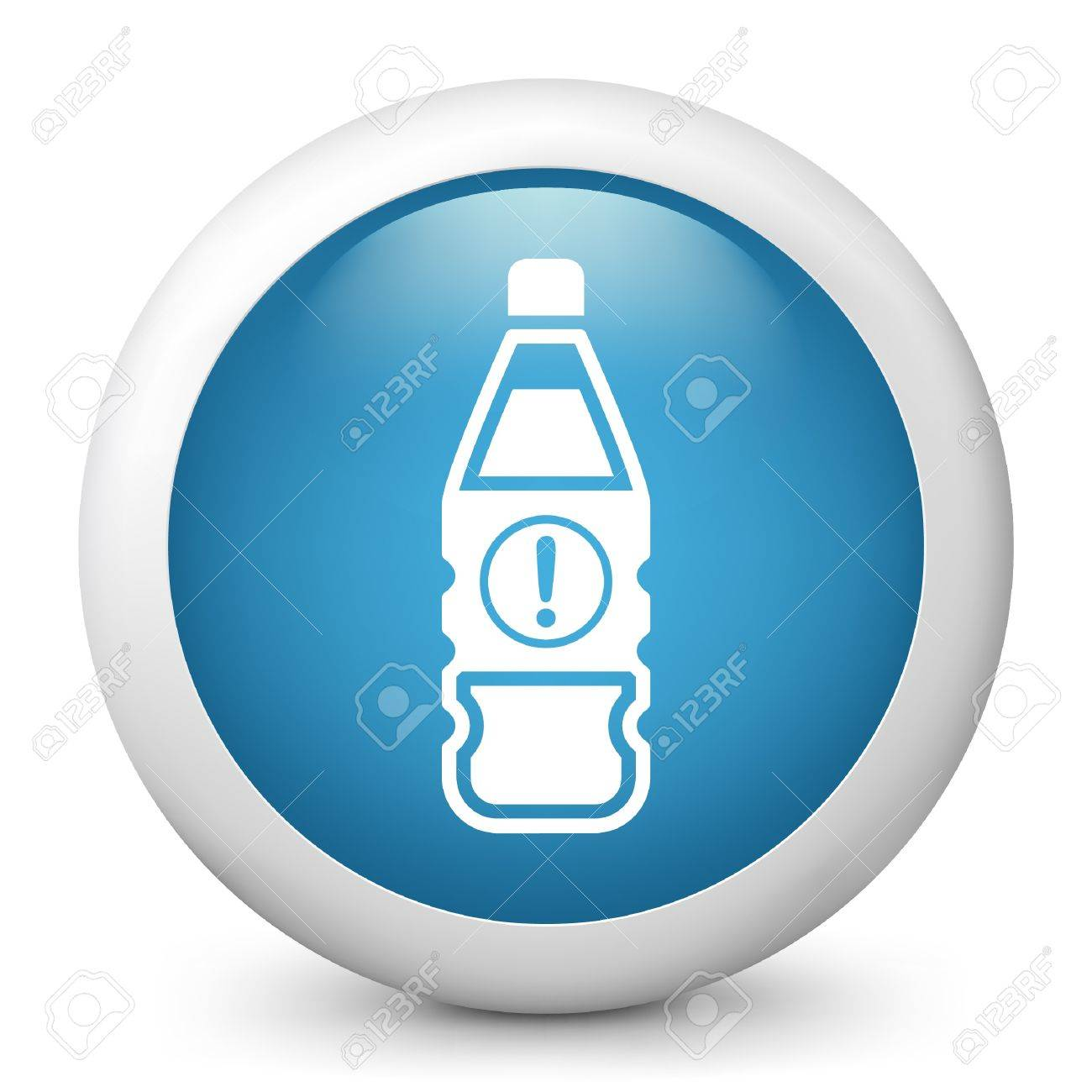 Vector illustration of blue glossy icon. Stock Vector - 17735871