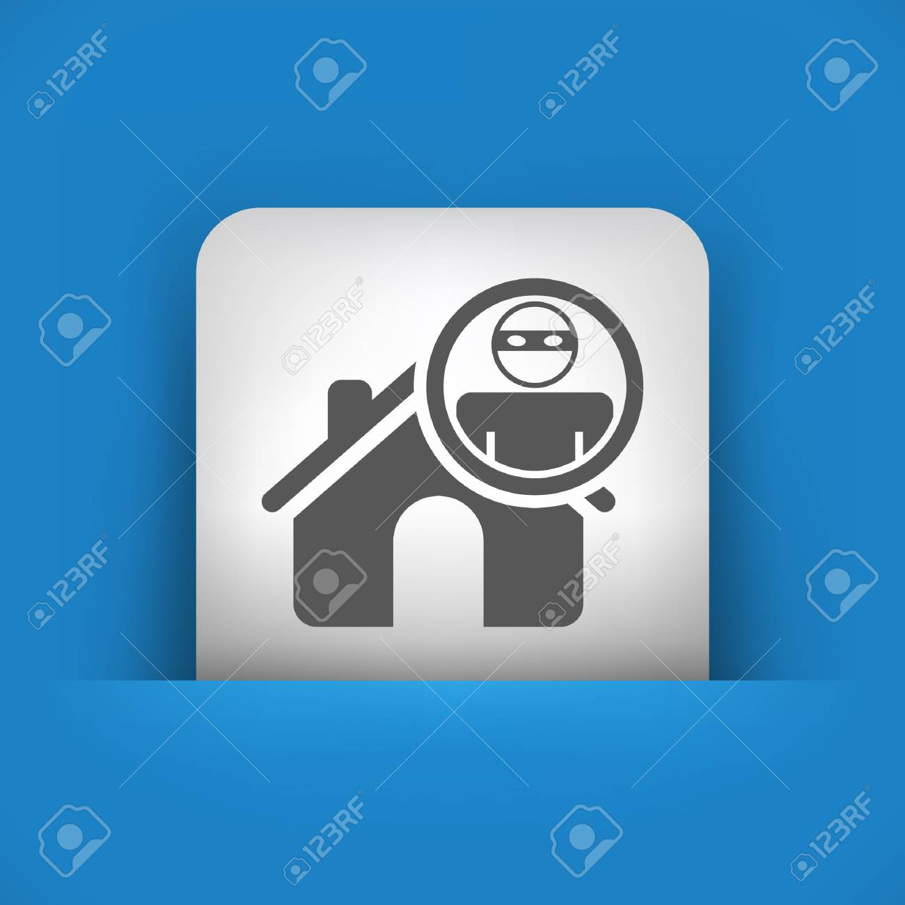 Vector illustration of single blue and gray isolated icon. Stock Vector - 17782722