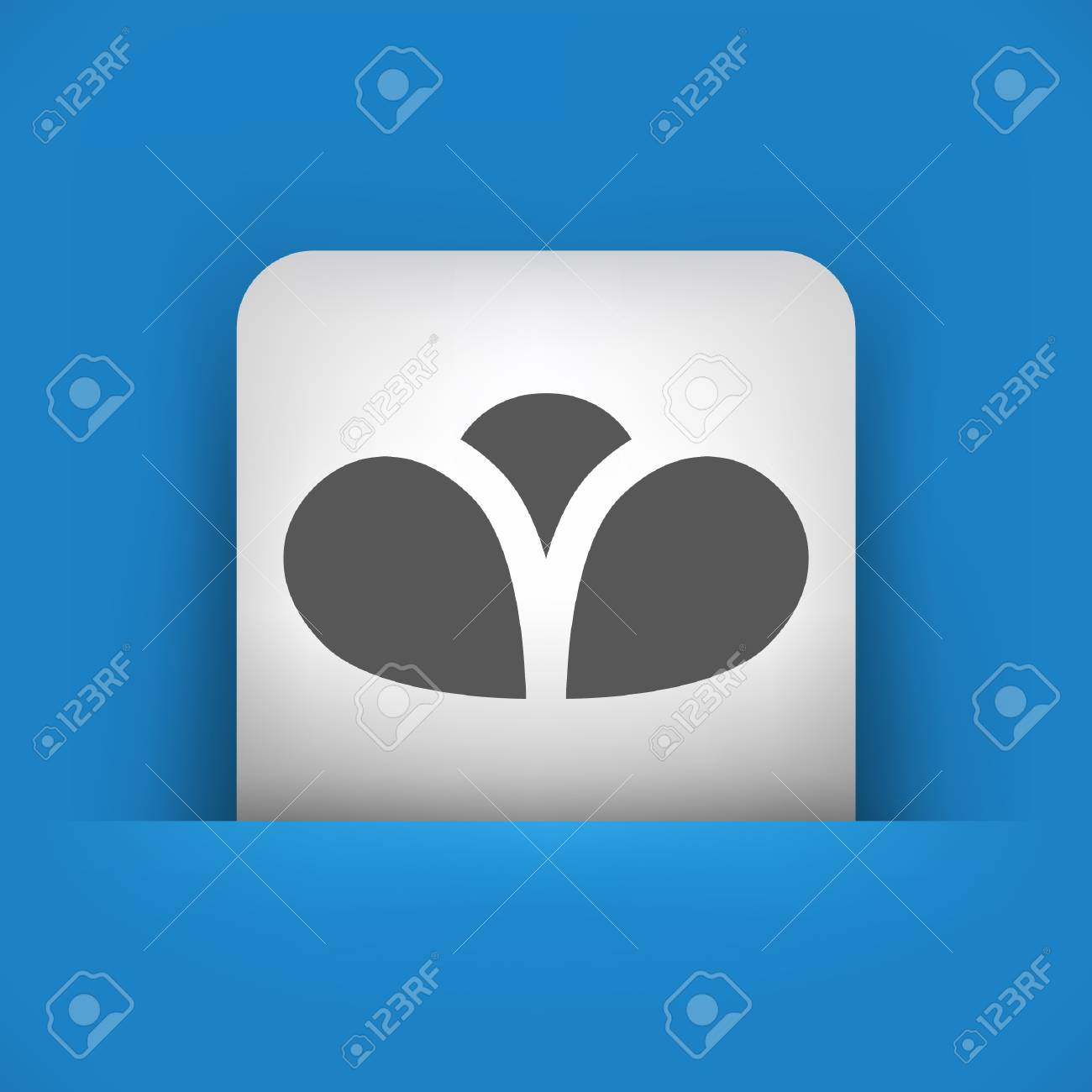Vector illustration of single blue and gray isolated icon. Stock Vector - 17782115