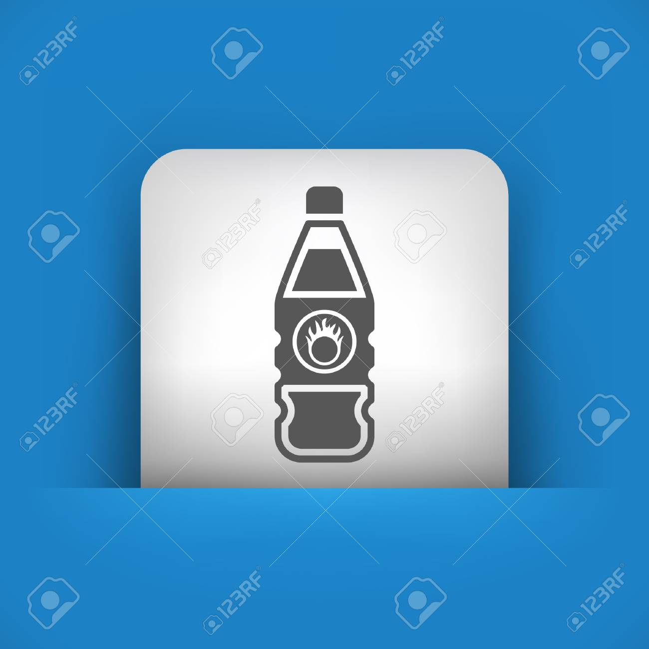 Vector illustration of single blue and gray isolated icon. Stock Vector - 17783105