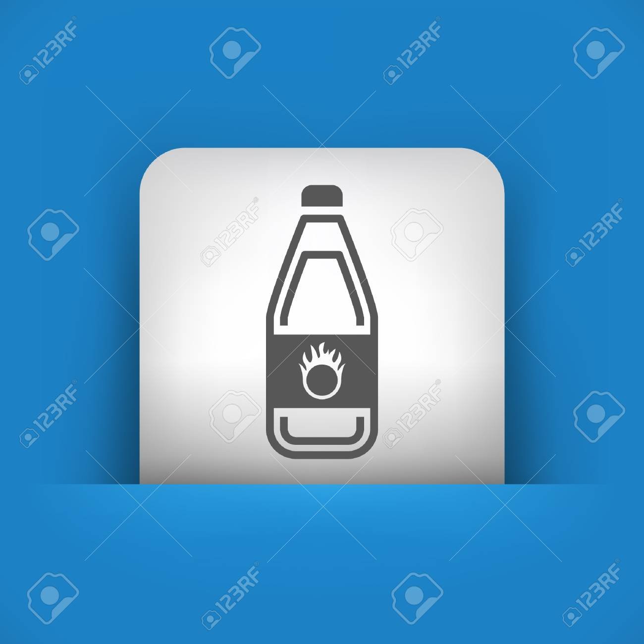 Vector illustration of single blue and gray isolated icon. Stock Vector - 17782686