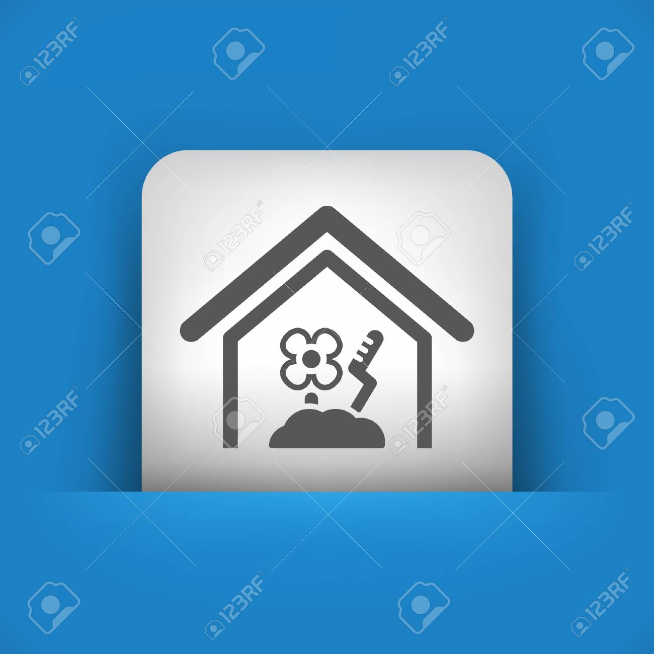 Vector illustration of single blue and gray isolated icon. Stock Vector - 17783276