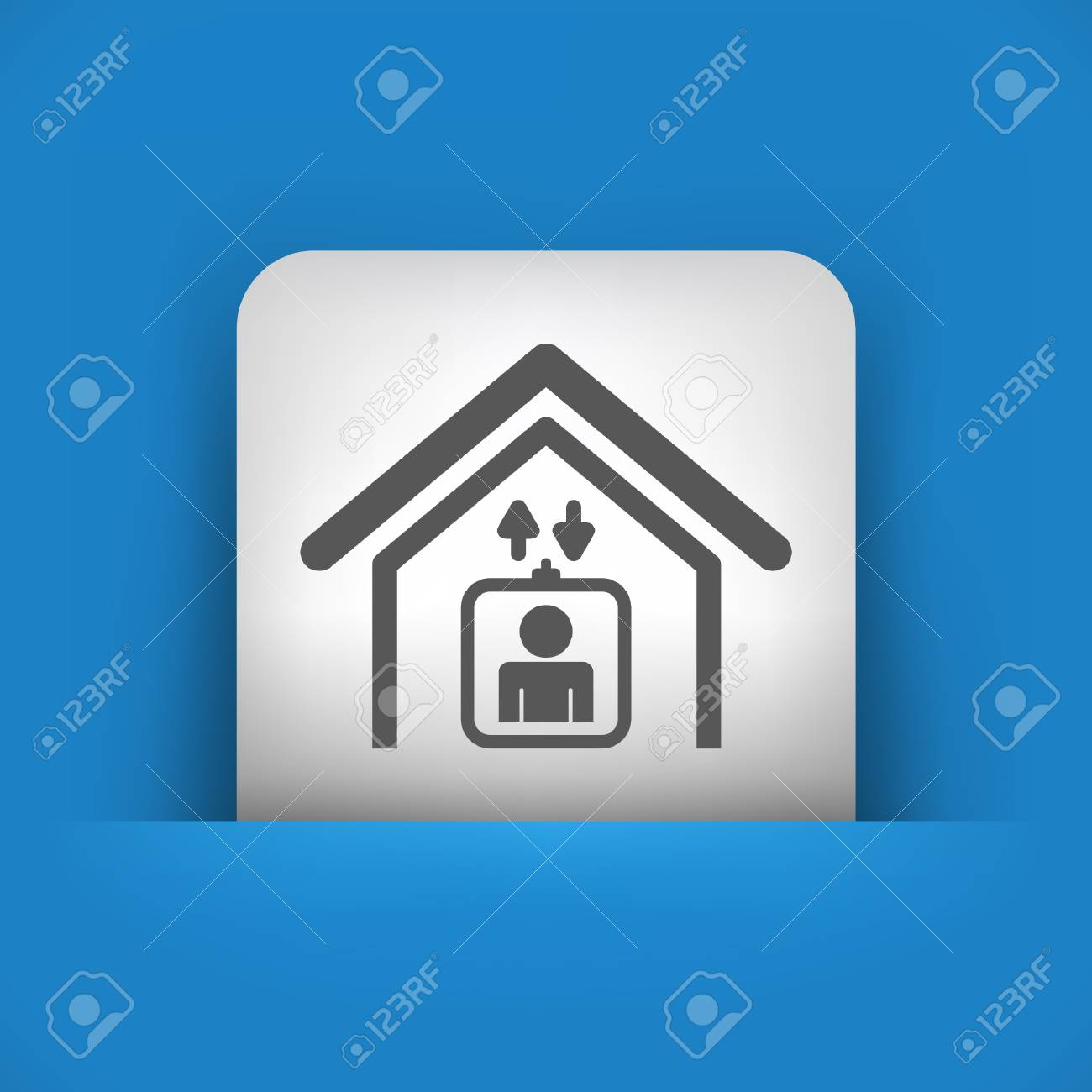 Vector illustration of single blue and gray isolated icon. Stock Vector - 17782940