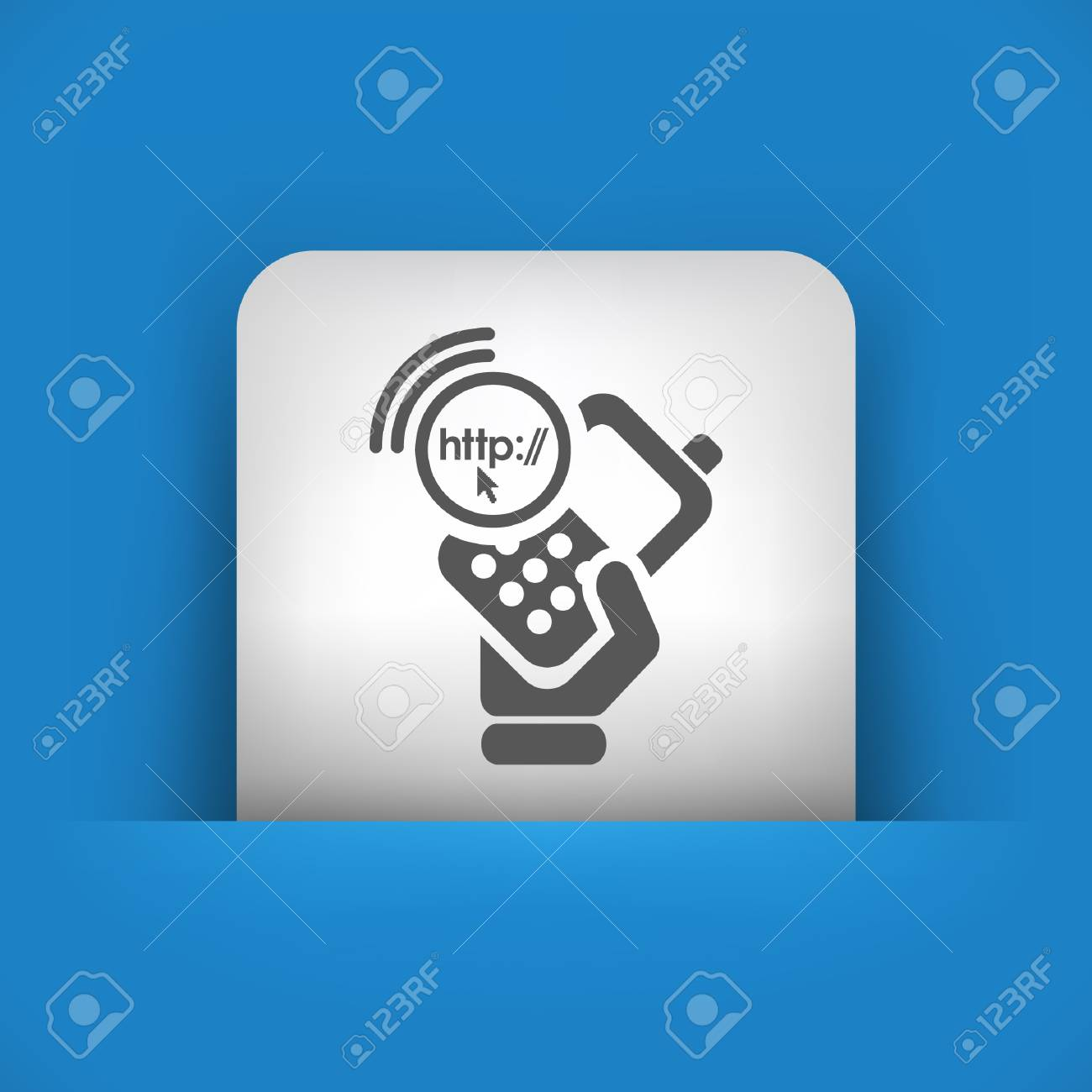 Vector illustration of single blue and gray isolated icon. Stock Vector - 17785412