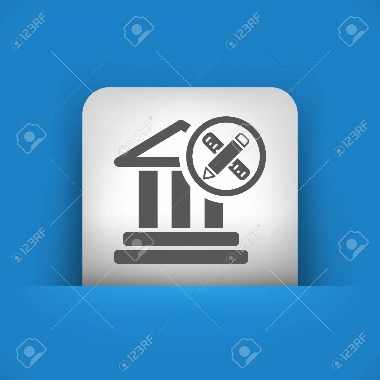 Vector illustration of single blue and gray isolated icon. Stock Vector - 17783354