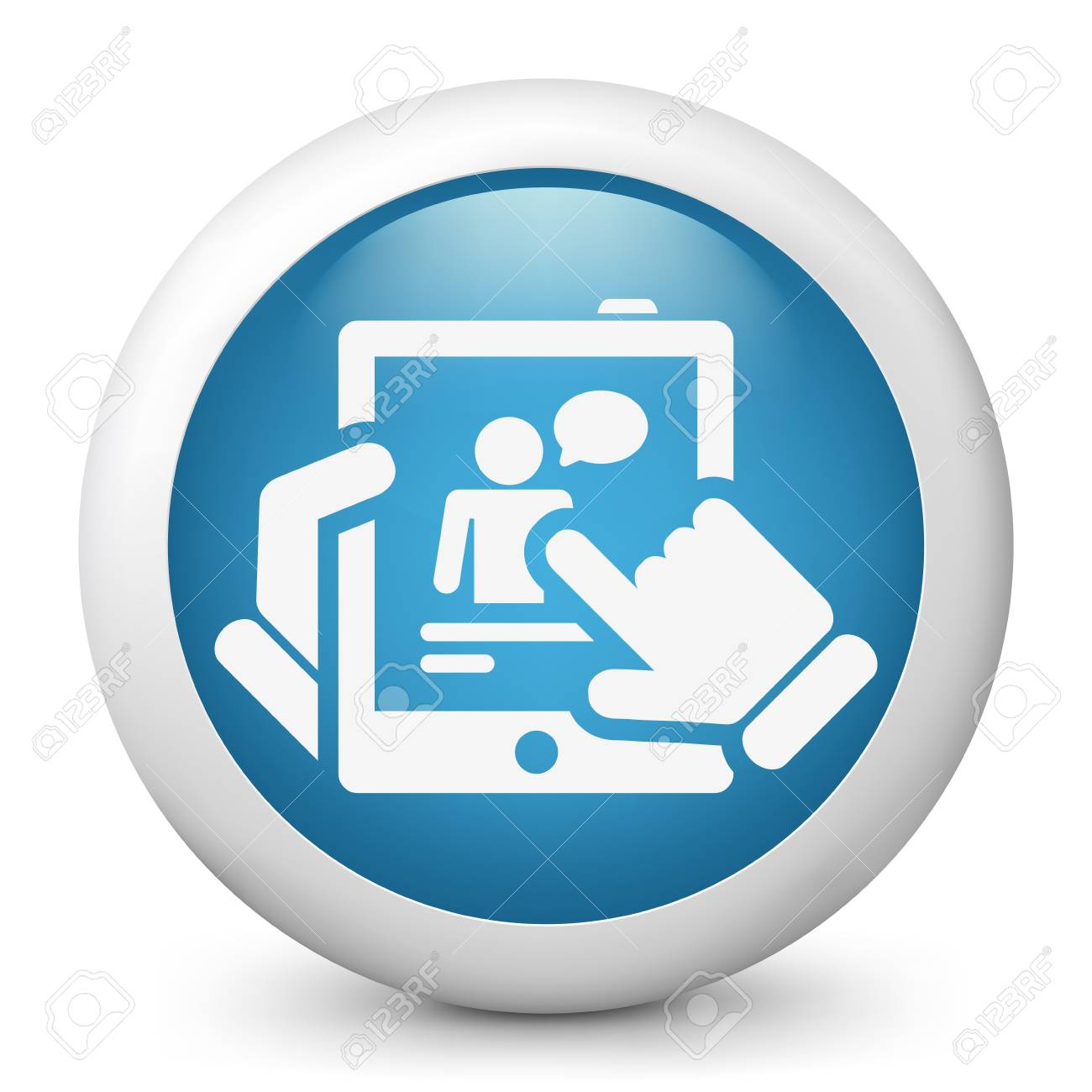 Chat on tablet concept icon Stock Vector - 19616645