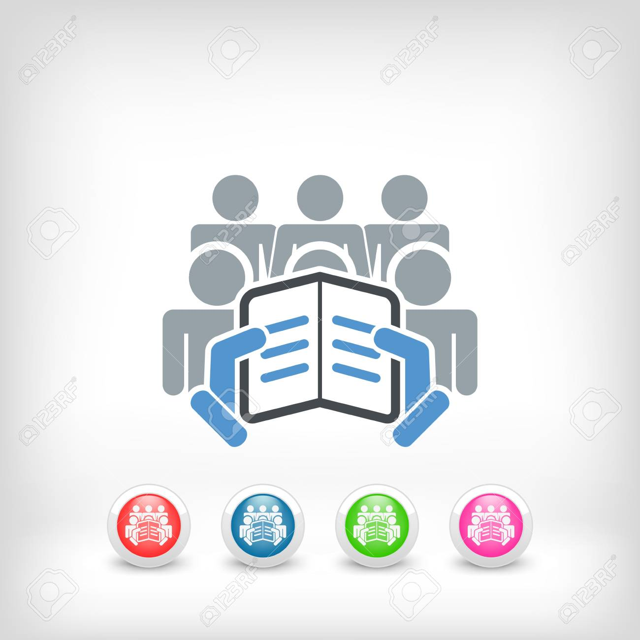 Reader with a group of listeners concept icon Stock Vector - 19875683