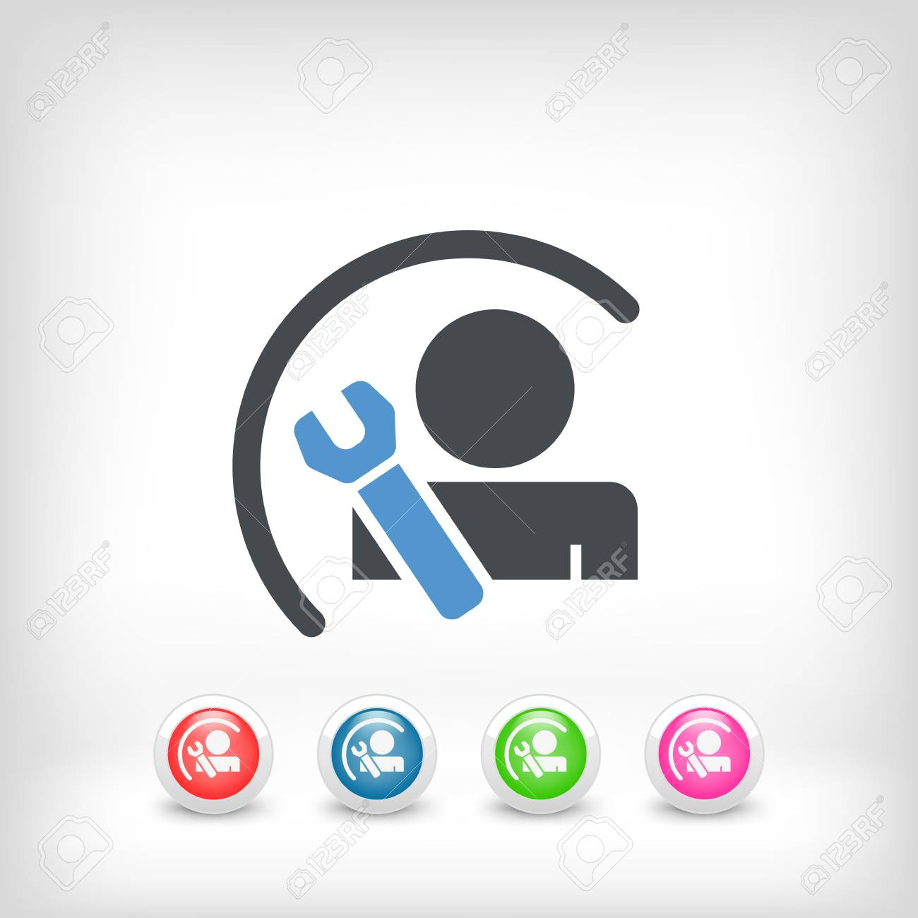 Worker concept symbol icon Stock Vector - 19875635
