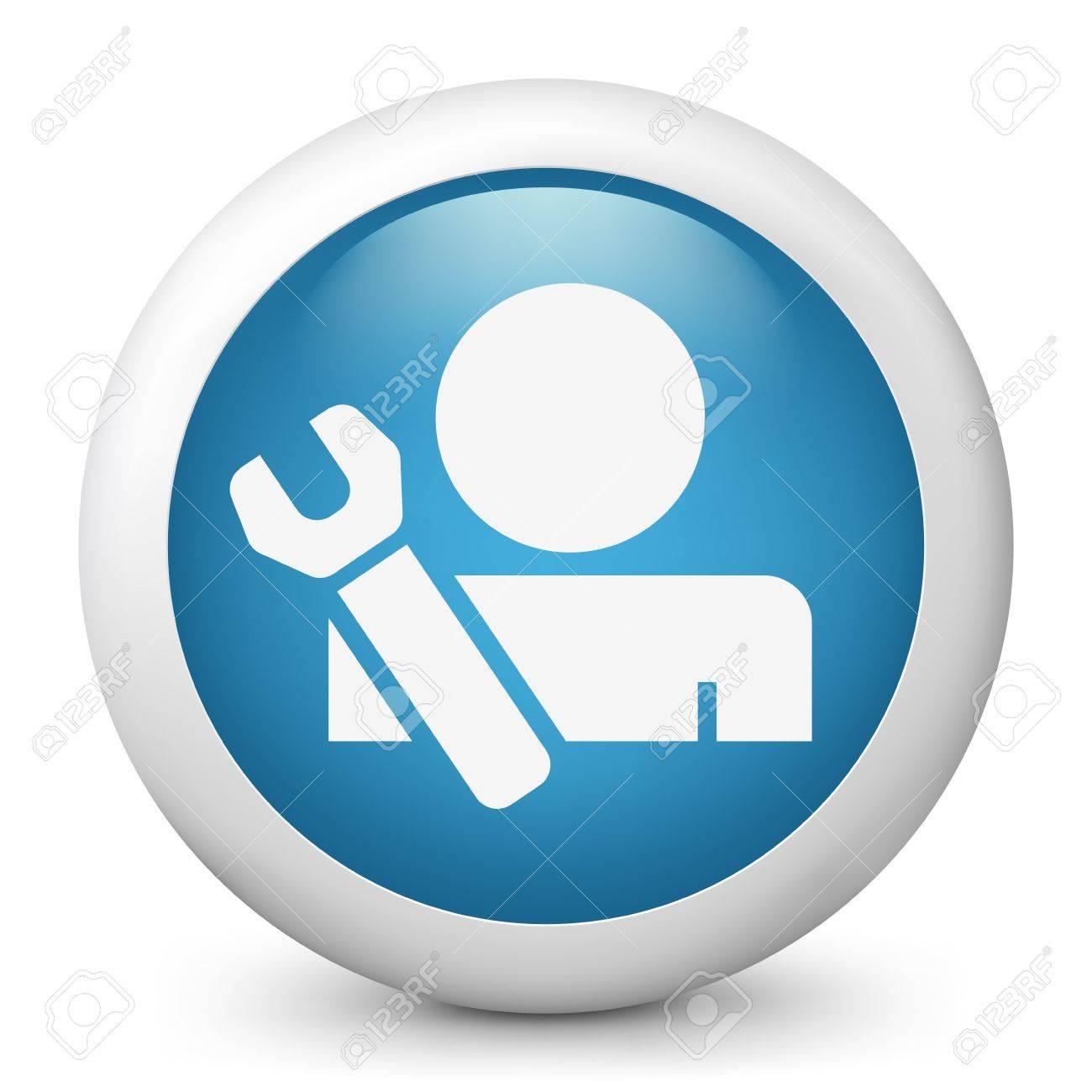 Worker concept symbol icon Stock Vector - 19876500