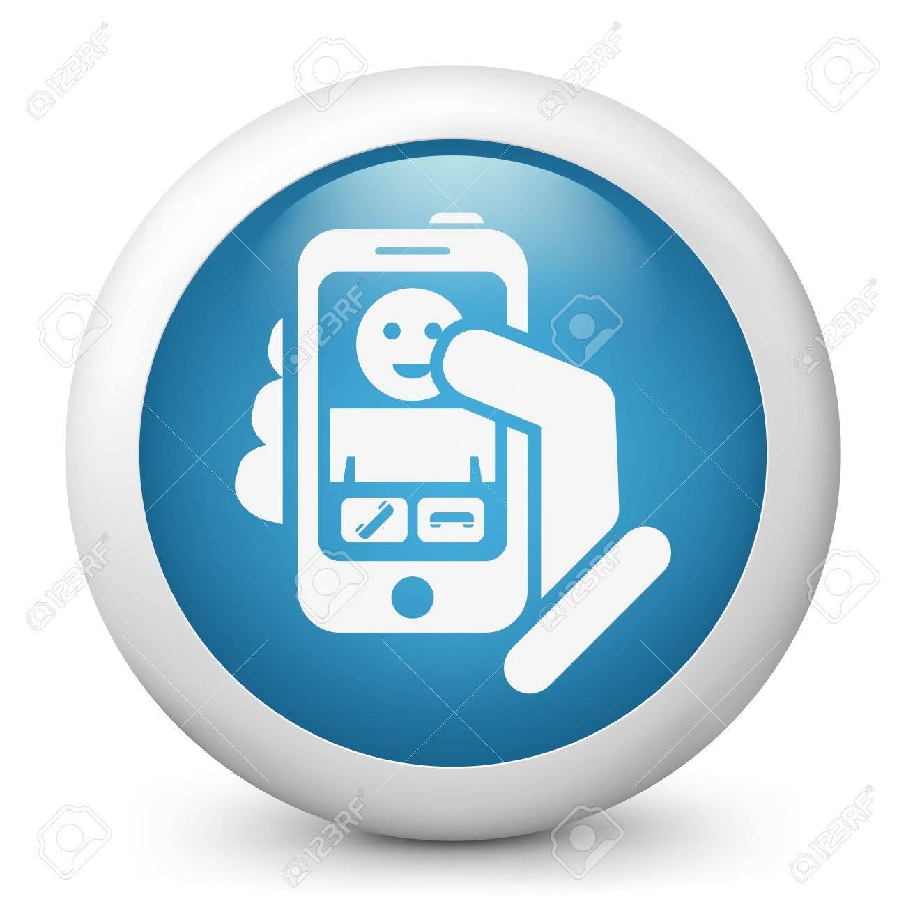 Smartphon incoming call icon Stock Vector - 19876643