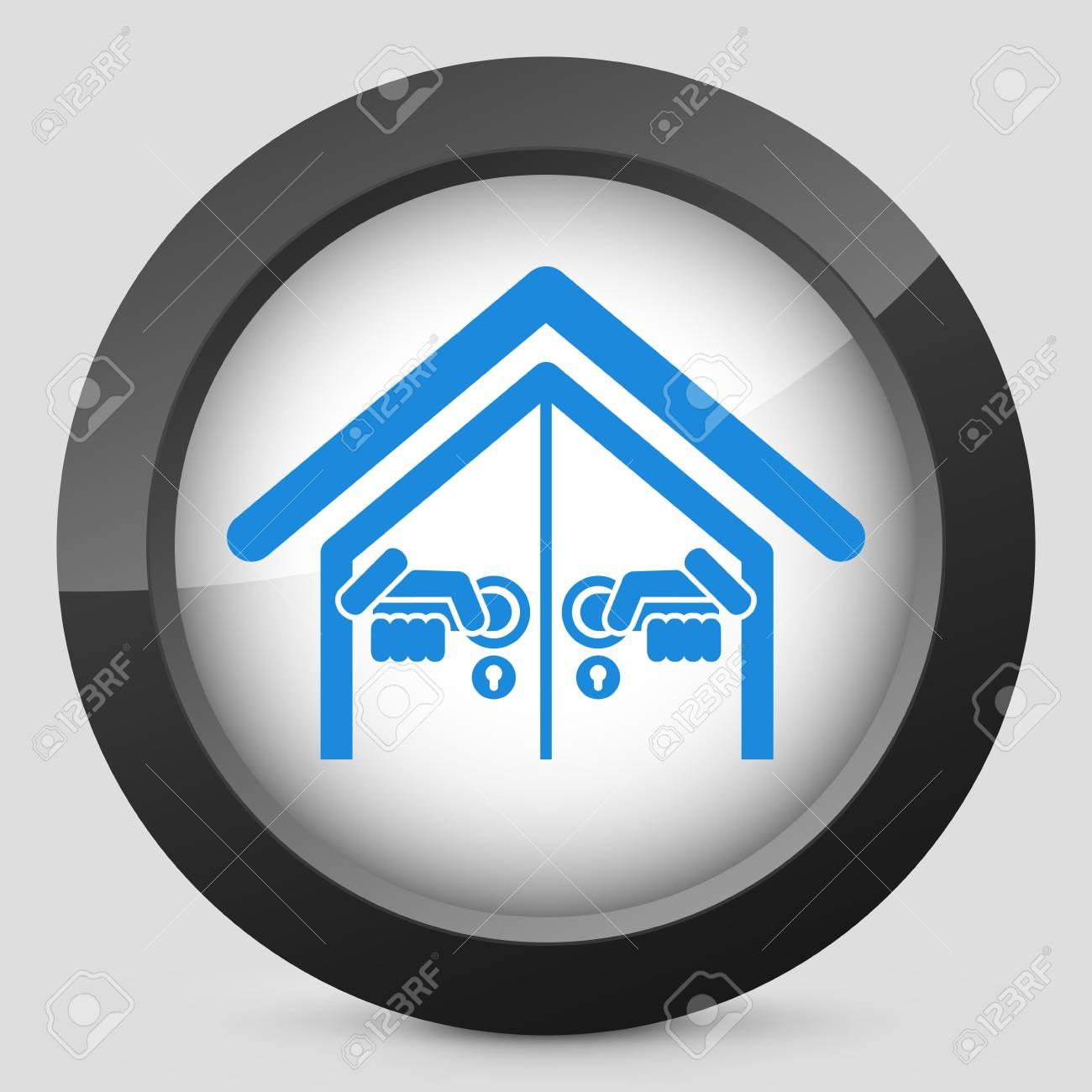 Door house opening concept icon Stock Vector - 19875616