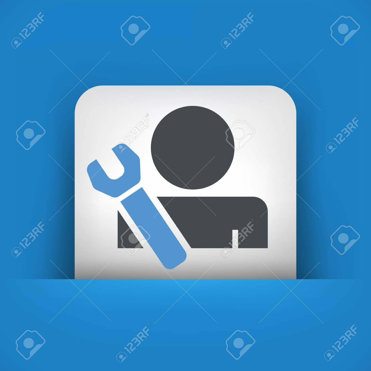 Worker concept symbol icon Stock Vector - 19875789