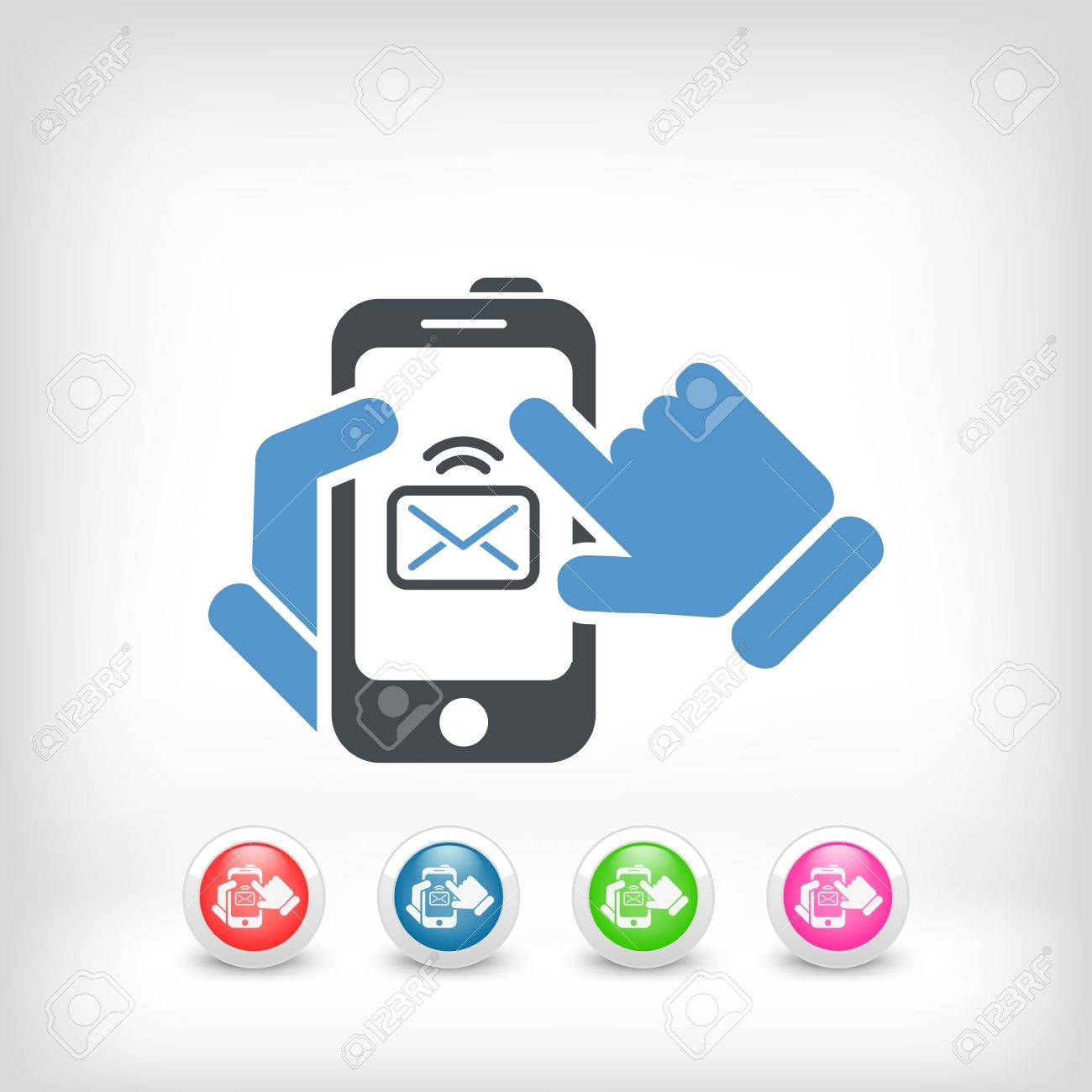 Smartphone mail icon Stock Vector - 20084328
