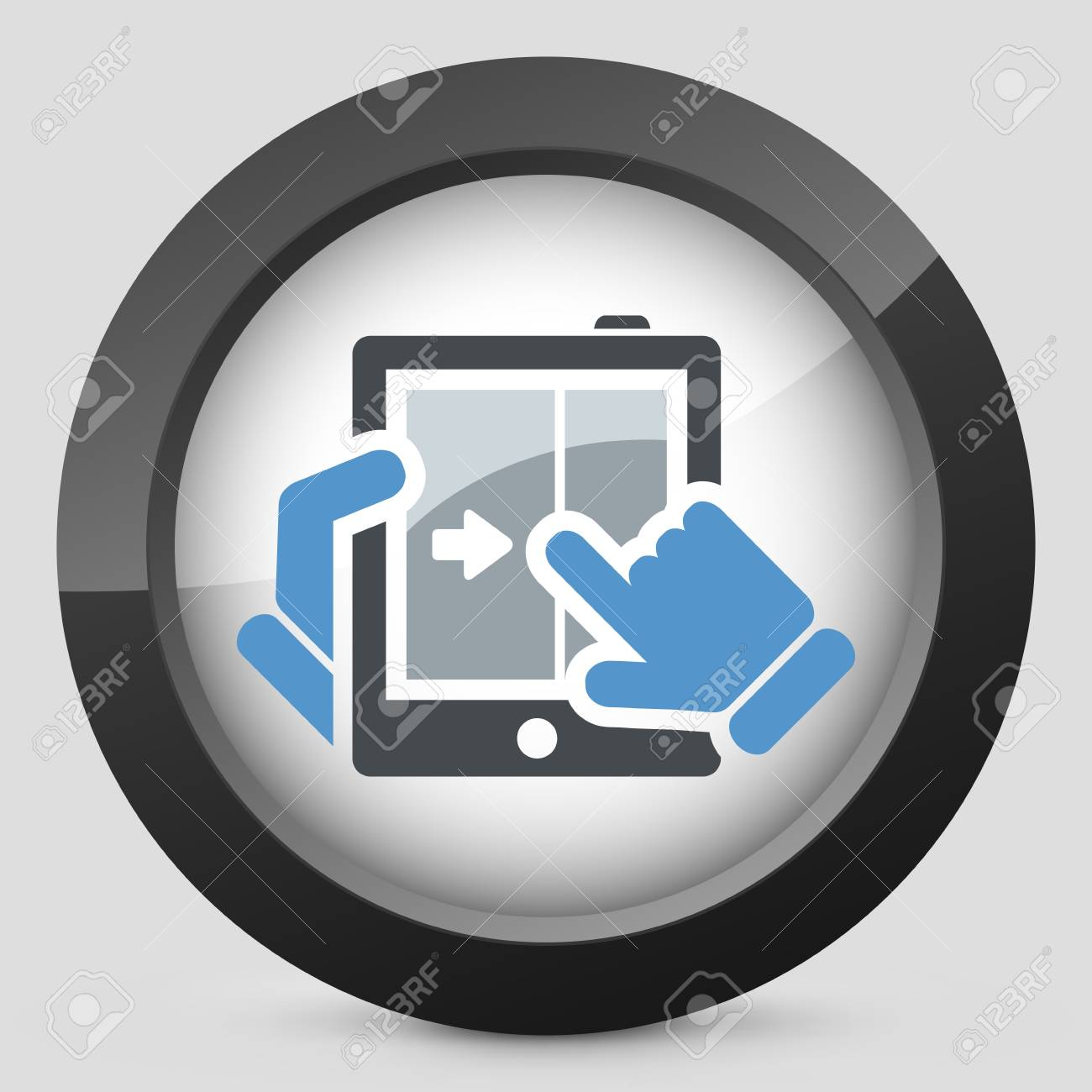 Touchscreen sliding icon Stock Vector - 20084298