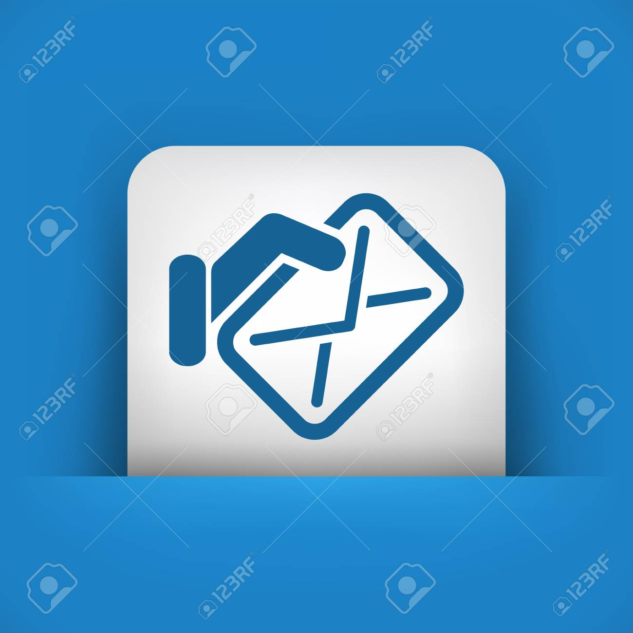Mail icon concept Stock Vector - 20084358