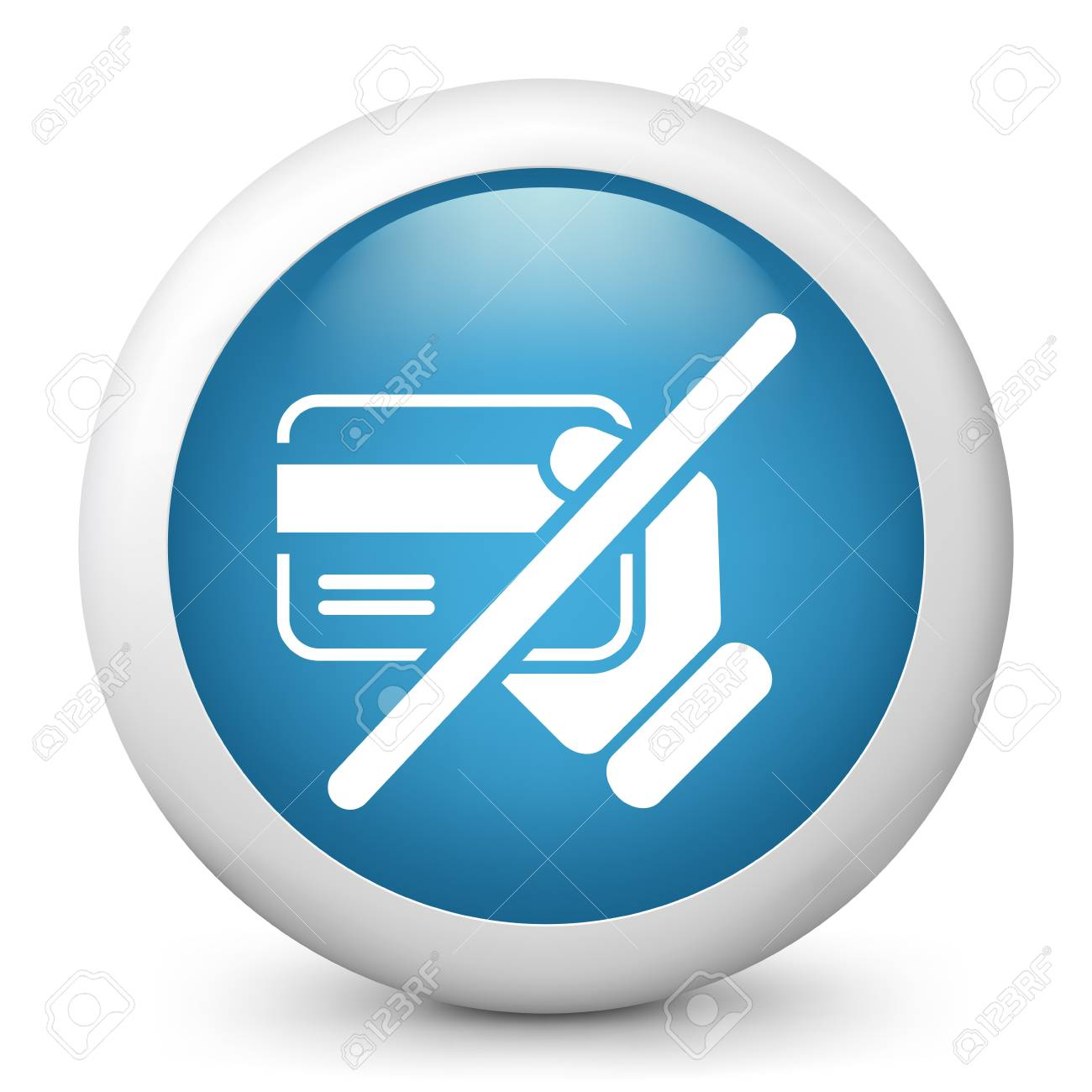 Credit card service not available Stock Vector - 20144713
