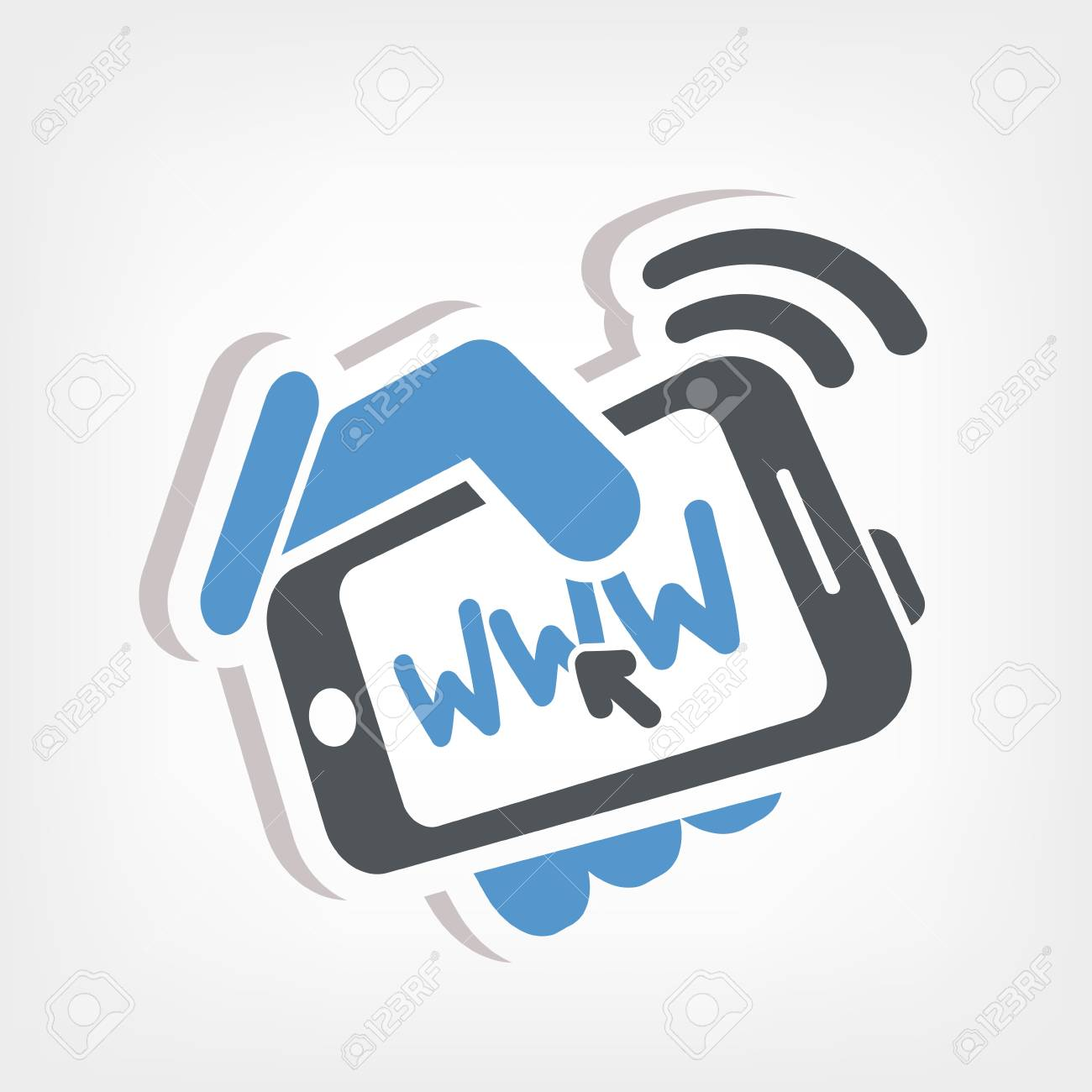 Smartphone connection web Stock Vector - 20236396