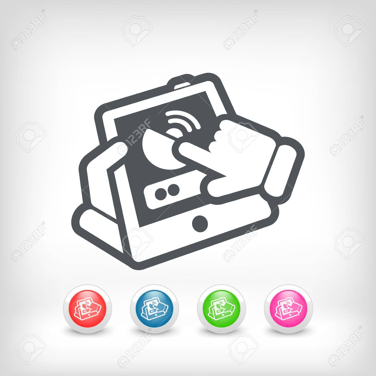 Antenna smartphone or tablet icon Stock Vector - 20236249