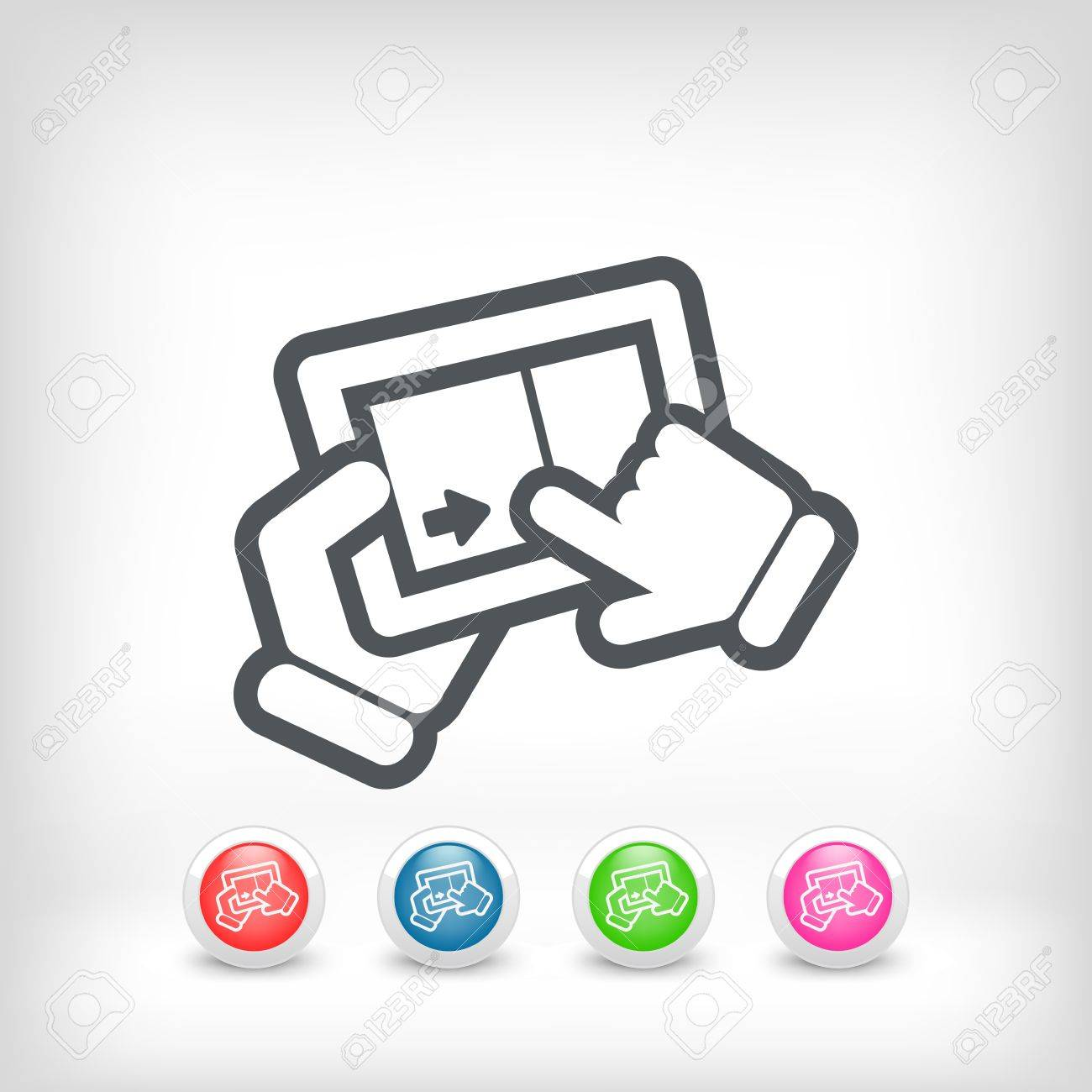 Slide touchscreen Stock Vector - 20236236