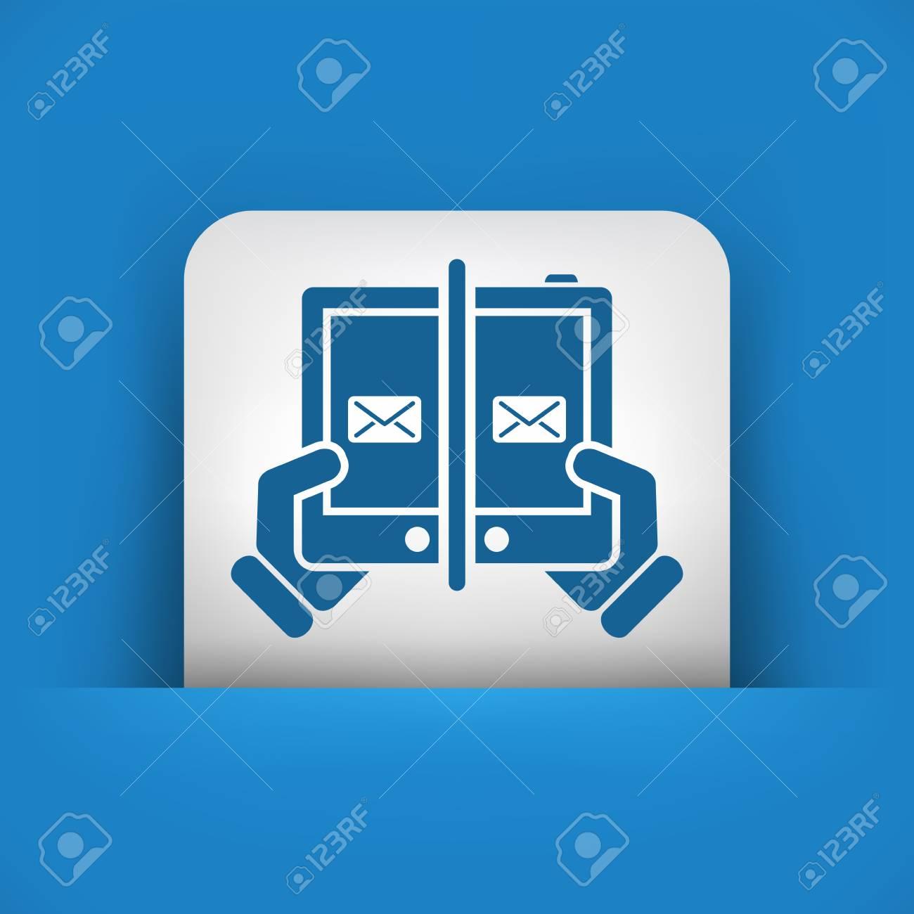 Web message icon Stock Vector - 22783478