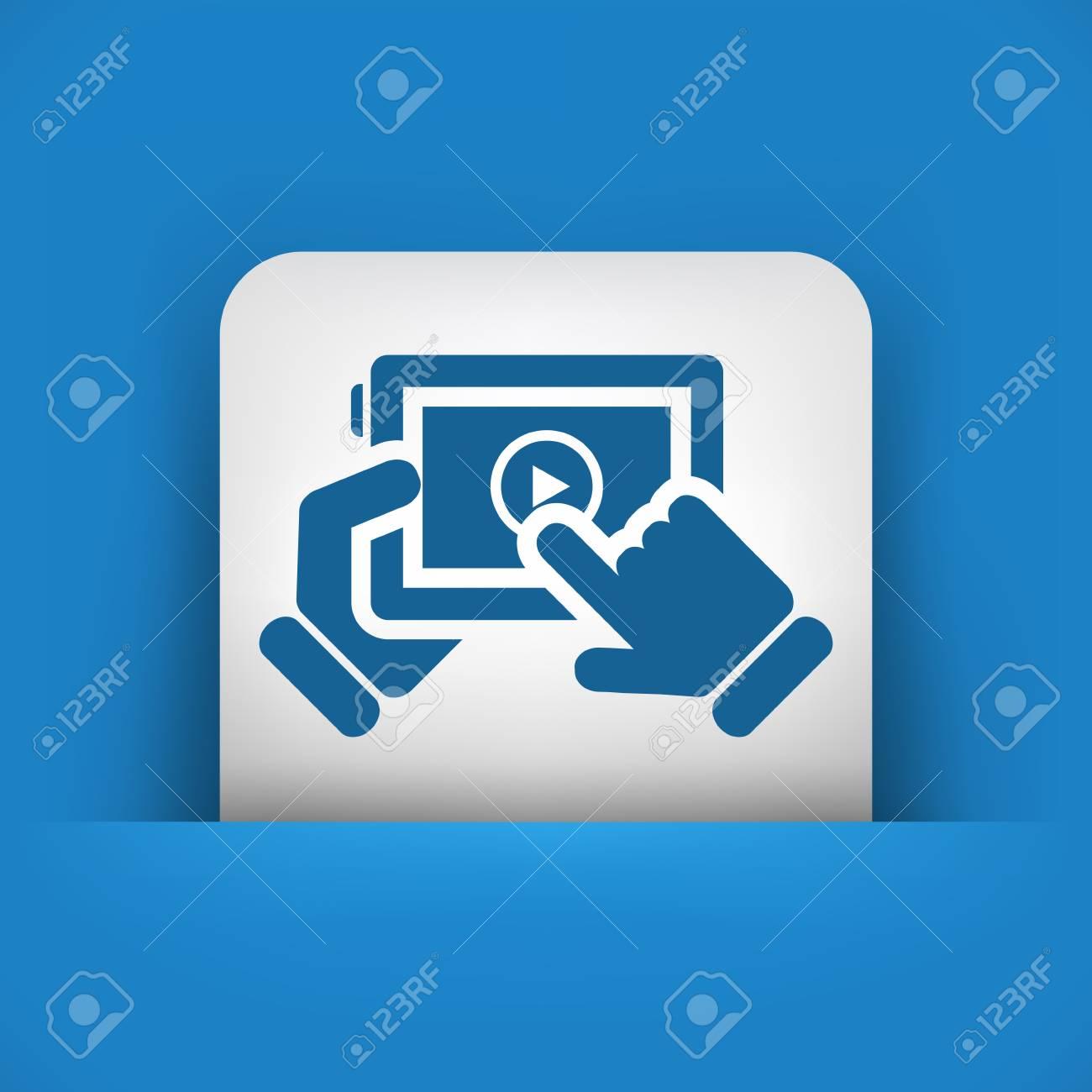 Multimedia player icon Stock Vector - 22795488