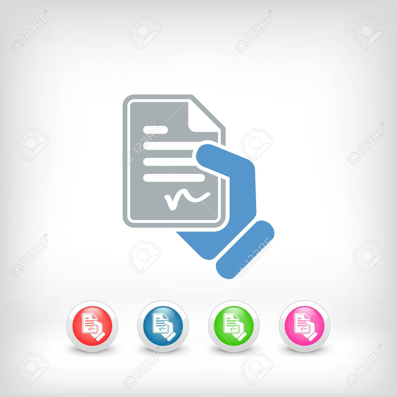 Document signed icon Stock Vector - 23097540
