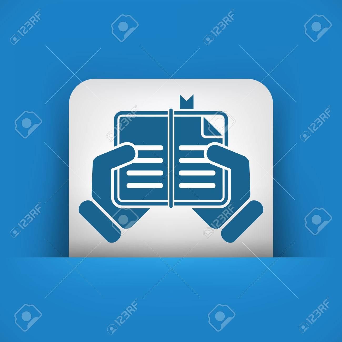 Book read icon Stock Vector - 23428819