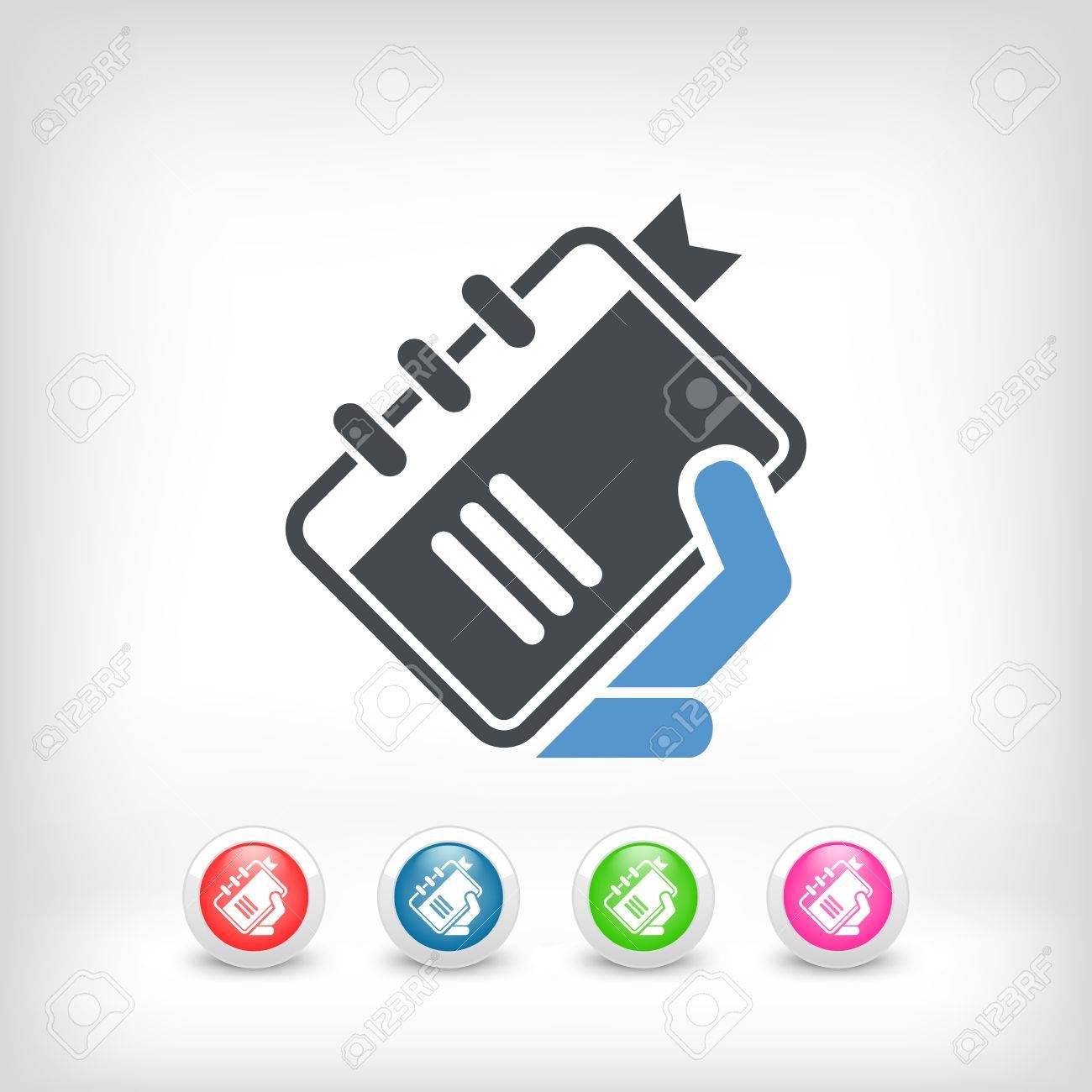 Book icon Stock Vector - 23428877