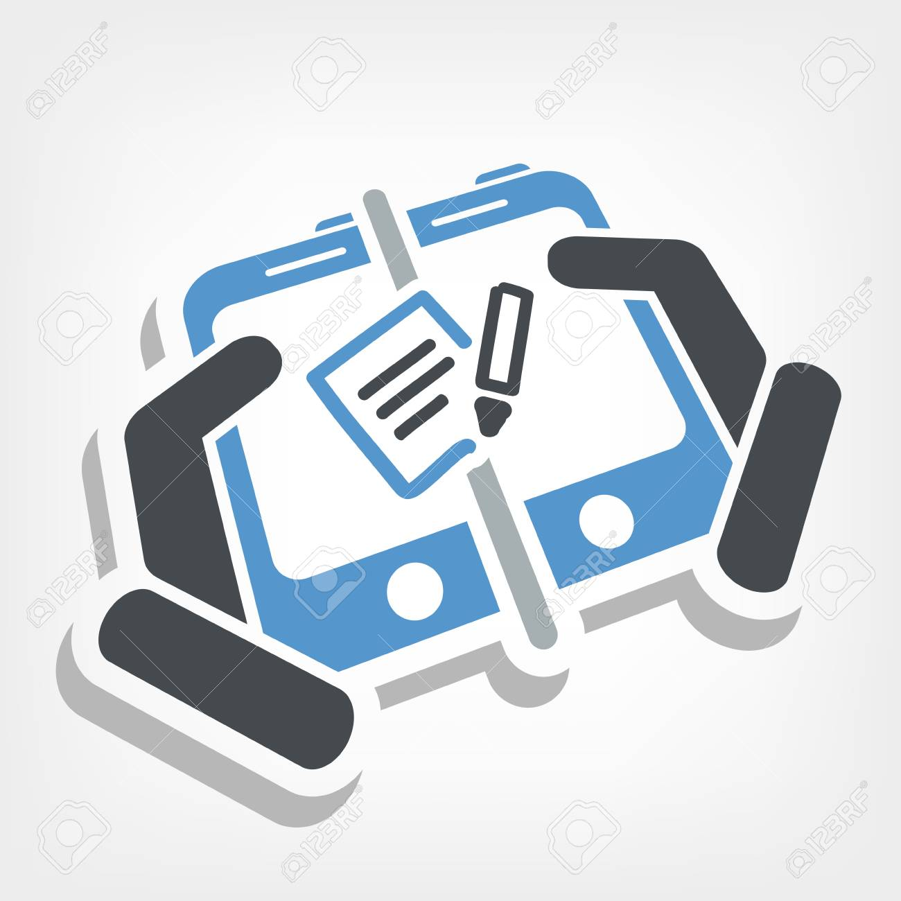Mailbox on device Stock Vector - 25078324
