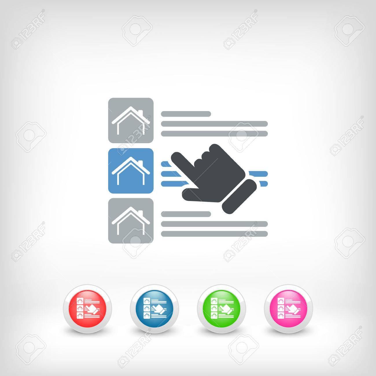 House list select Stock Vector - 25405375