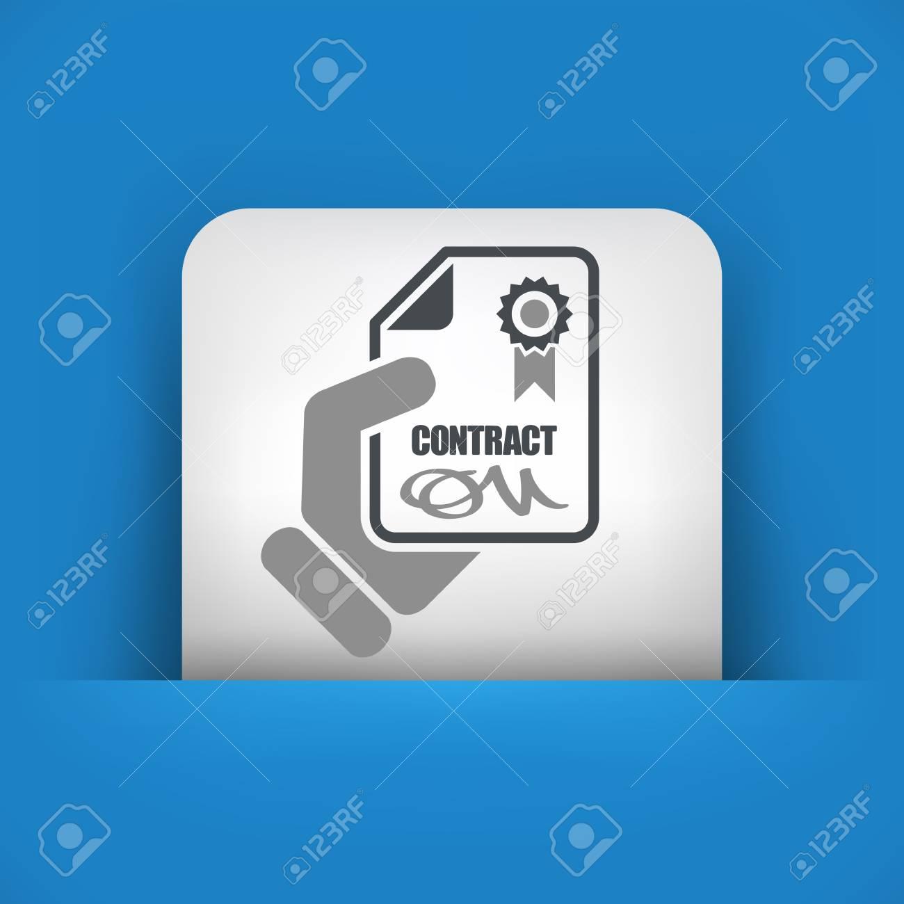 Contract icon Stock Vector - 26767930