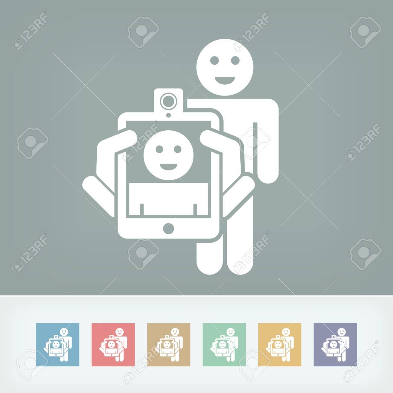 Smartphone or tablet photo digital portrait shoot Stock Vector - 27148864